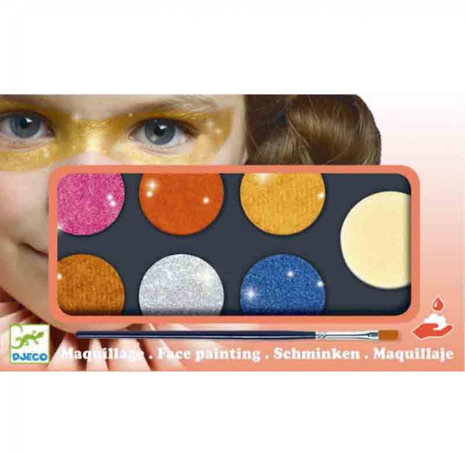 Face Painting Palette 6 Colours - Metallic Glitter