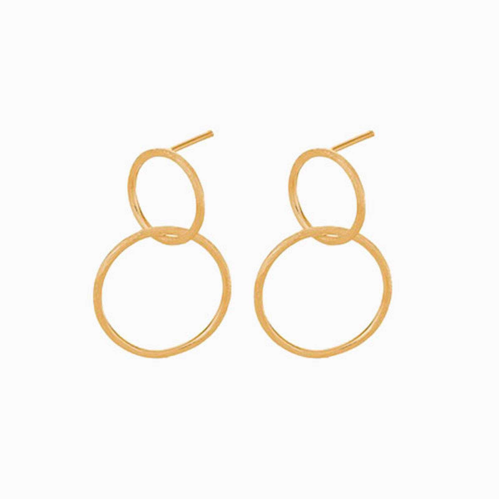 Gold Interlocking Hoop Earrings By Pernille Corydon thumbnails