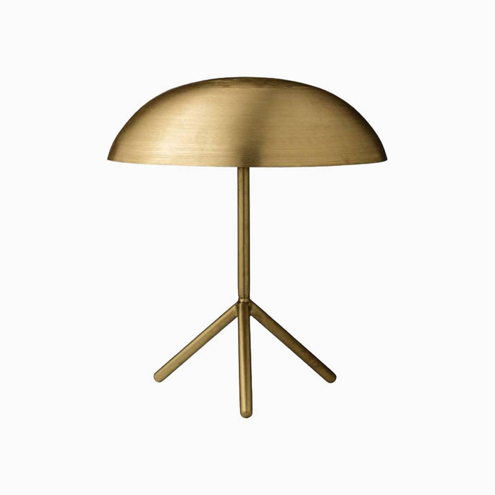 Brushed Gold Domed Tripod Desk Lamp