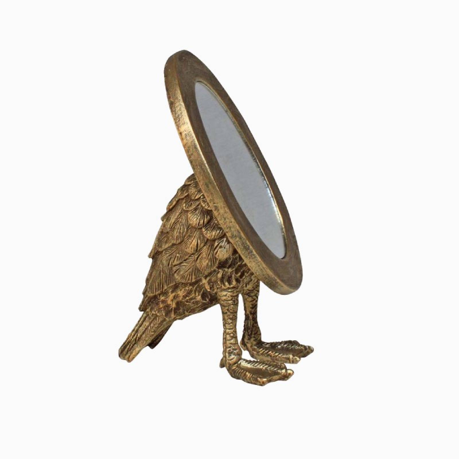 Gold Oval Tabletop Mirror With Webbed Feet