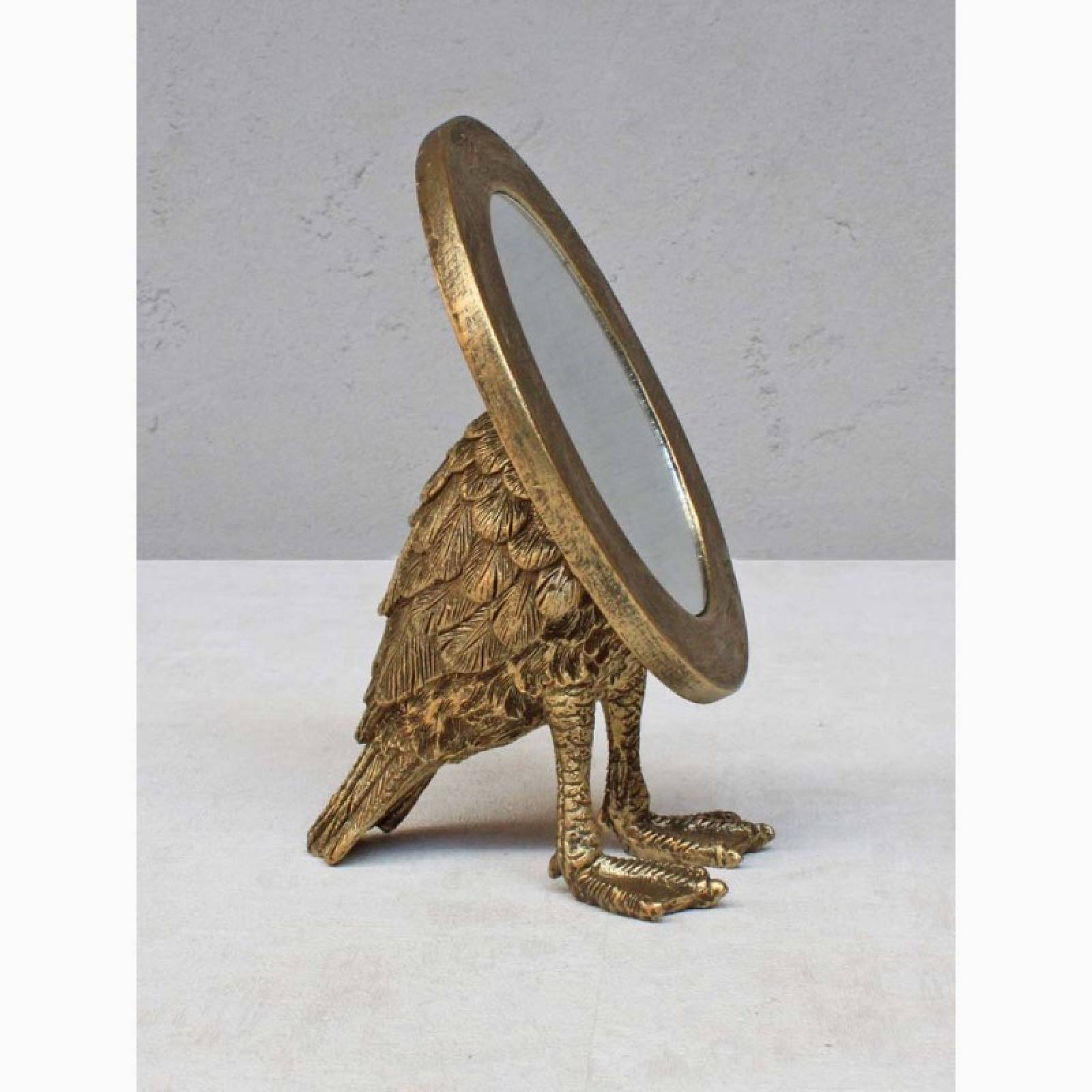 Gold Oval Tabletop Mirror With Webbed Feet thumbnails