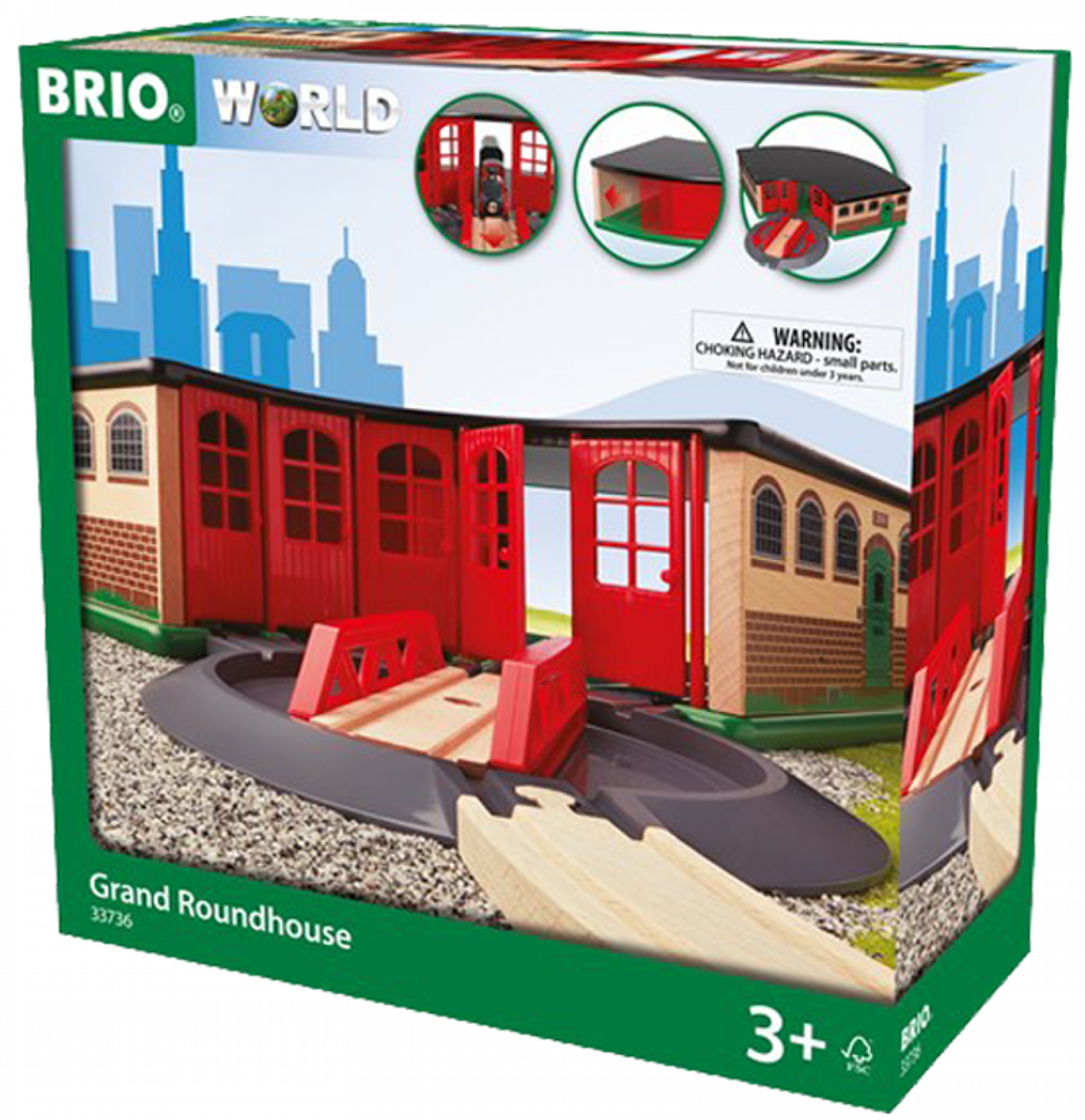 Grand Roundhouse BRIO Wooden Railway Age 3+