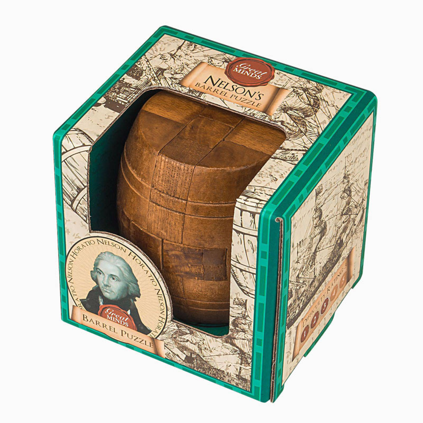Great Minds Nelson's Barrel Wooden Puzzle