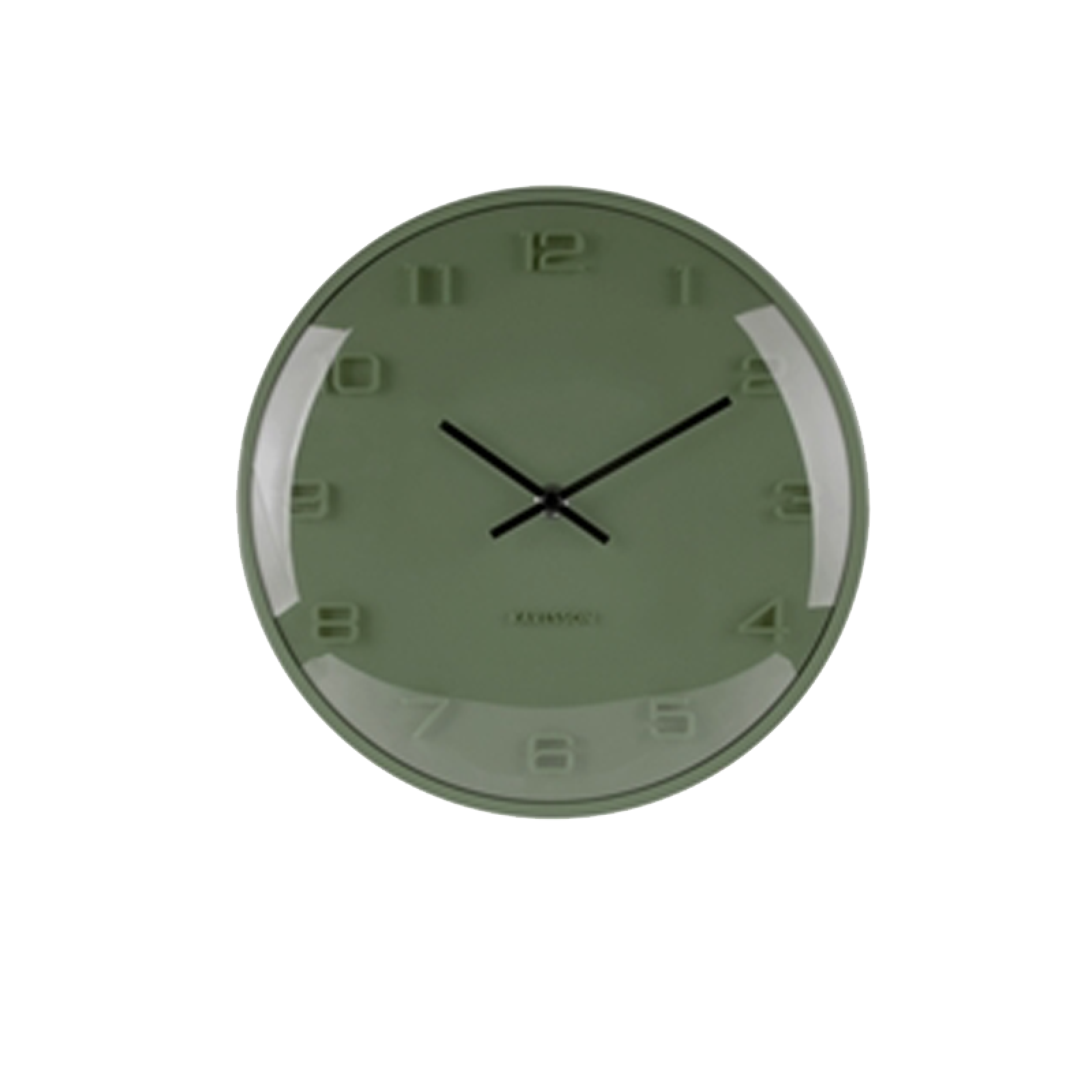 Pine Green Elevated Domed Wall Clock 25cm