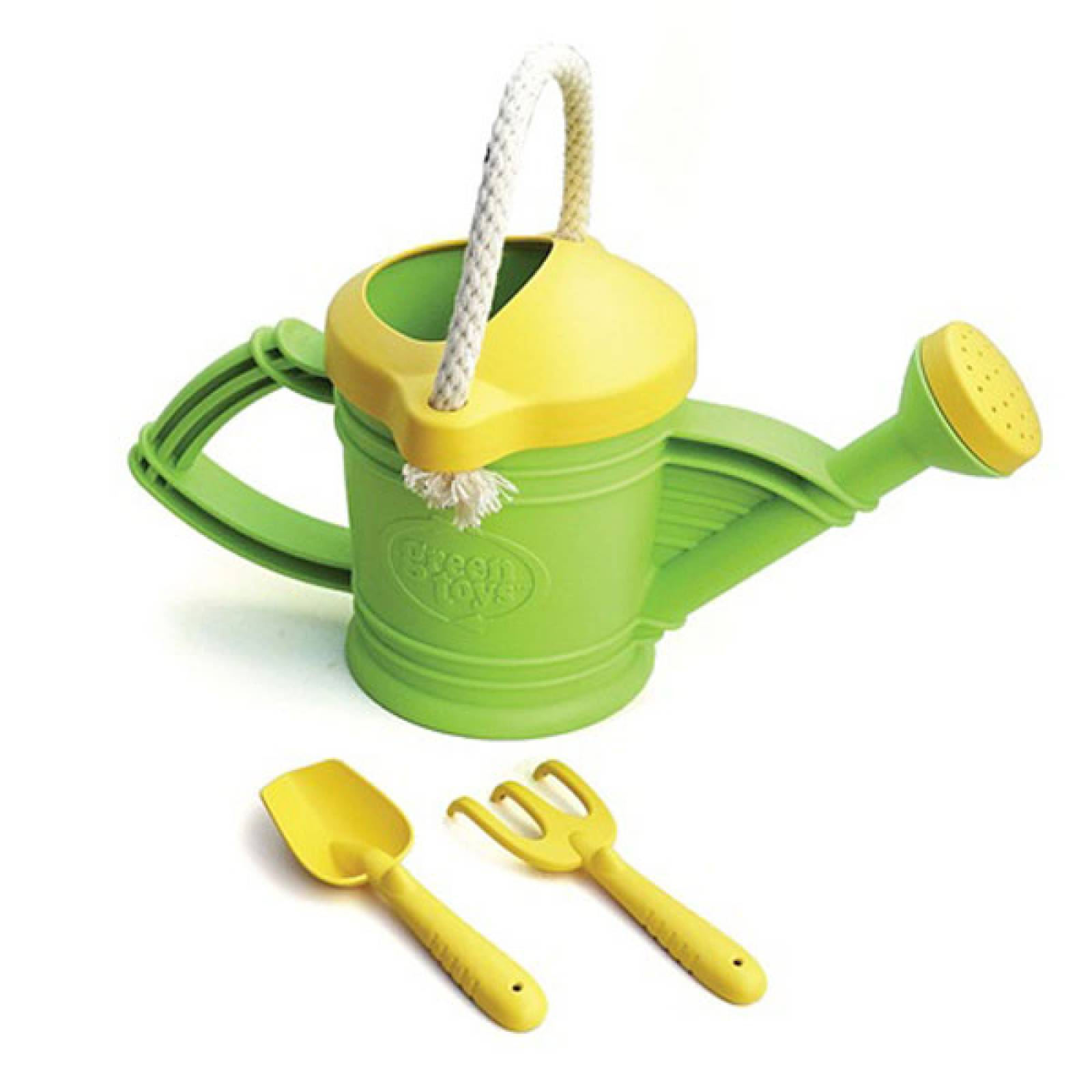 Green Recycled Plastic Watering Can By Green Toys 18m+