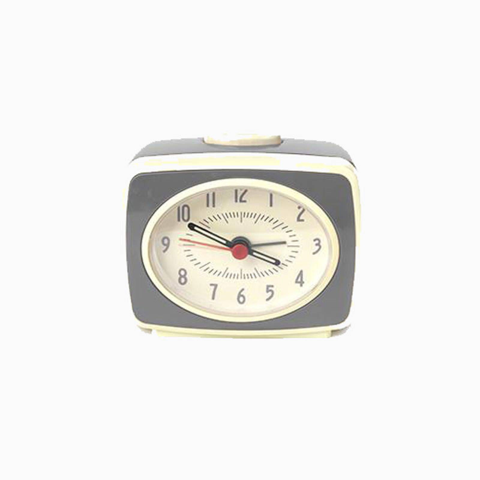Grey Retro Alarm Clock