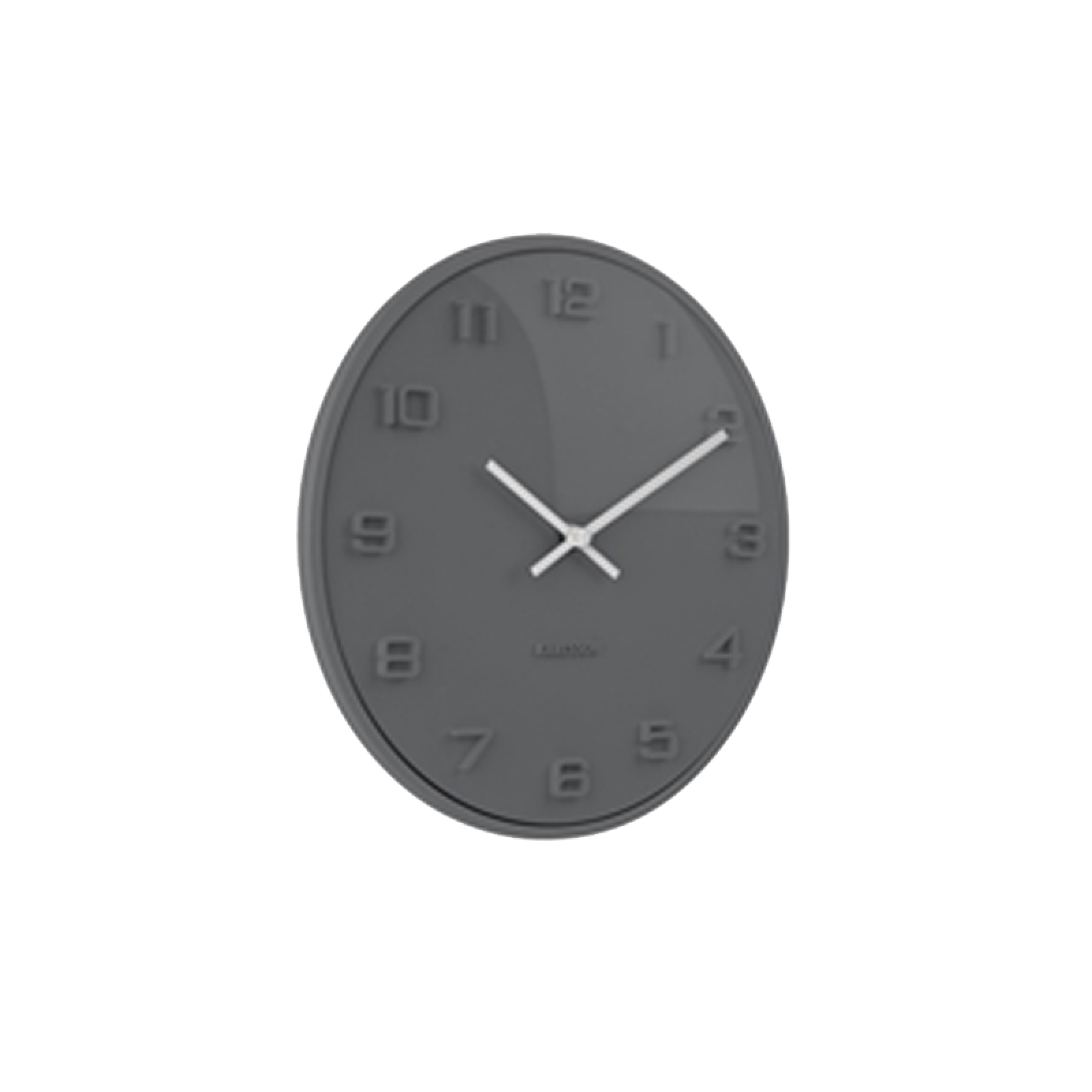 Grey Domed Elevated Wall Clock 25cm