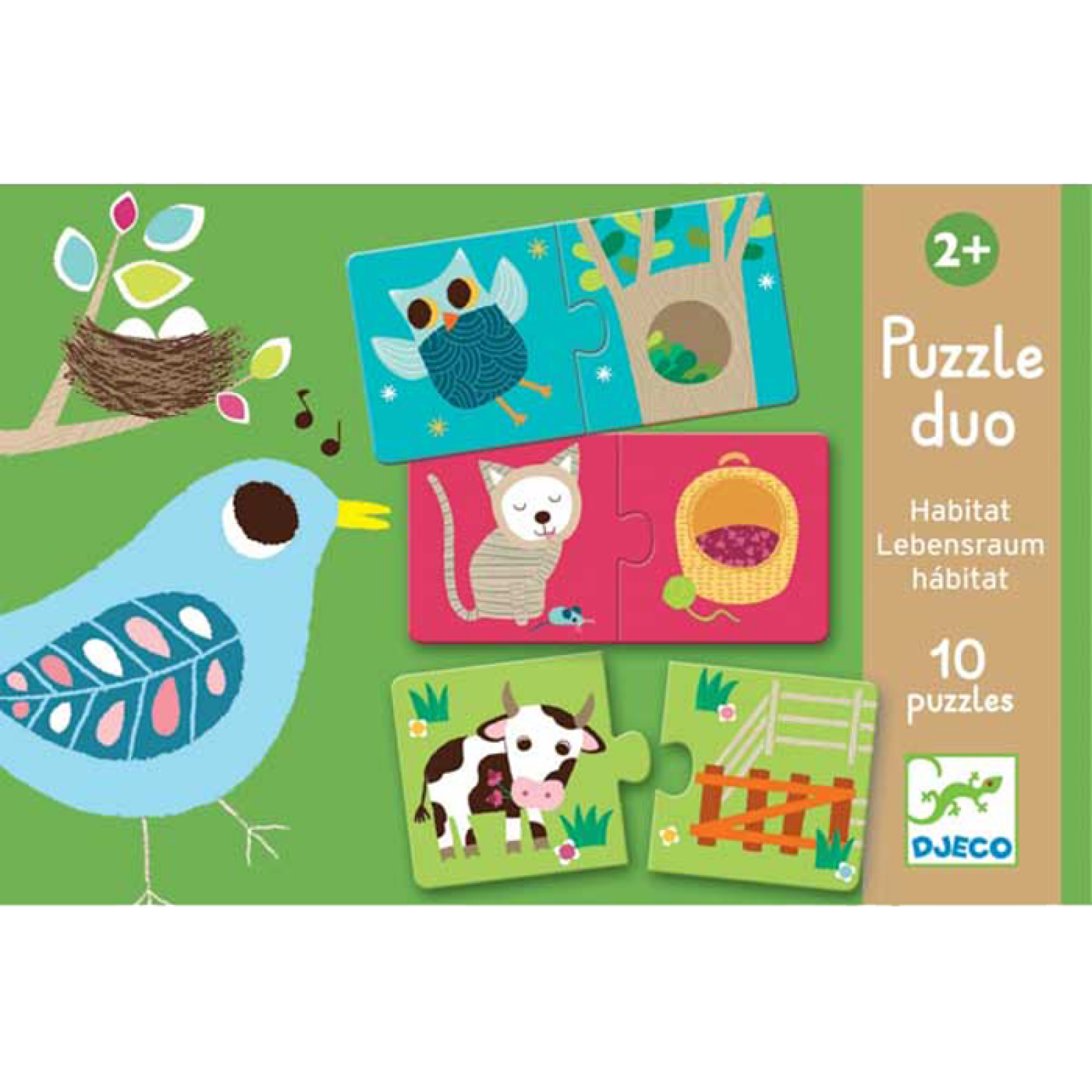 Habitat Puzzle Duo Game By Djeco 2+