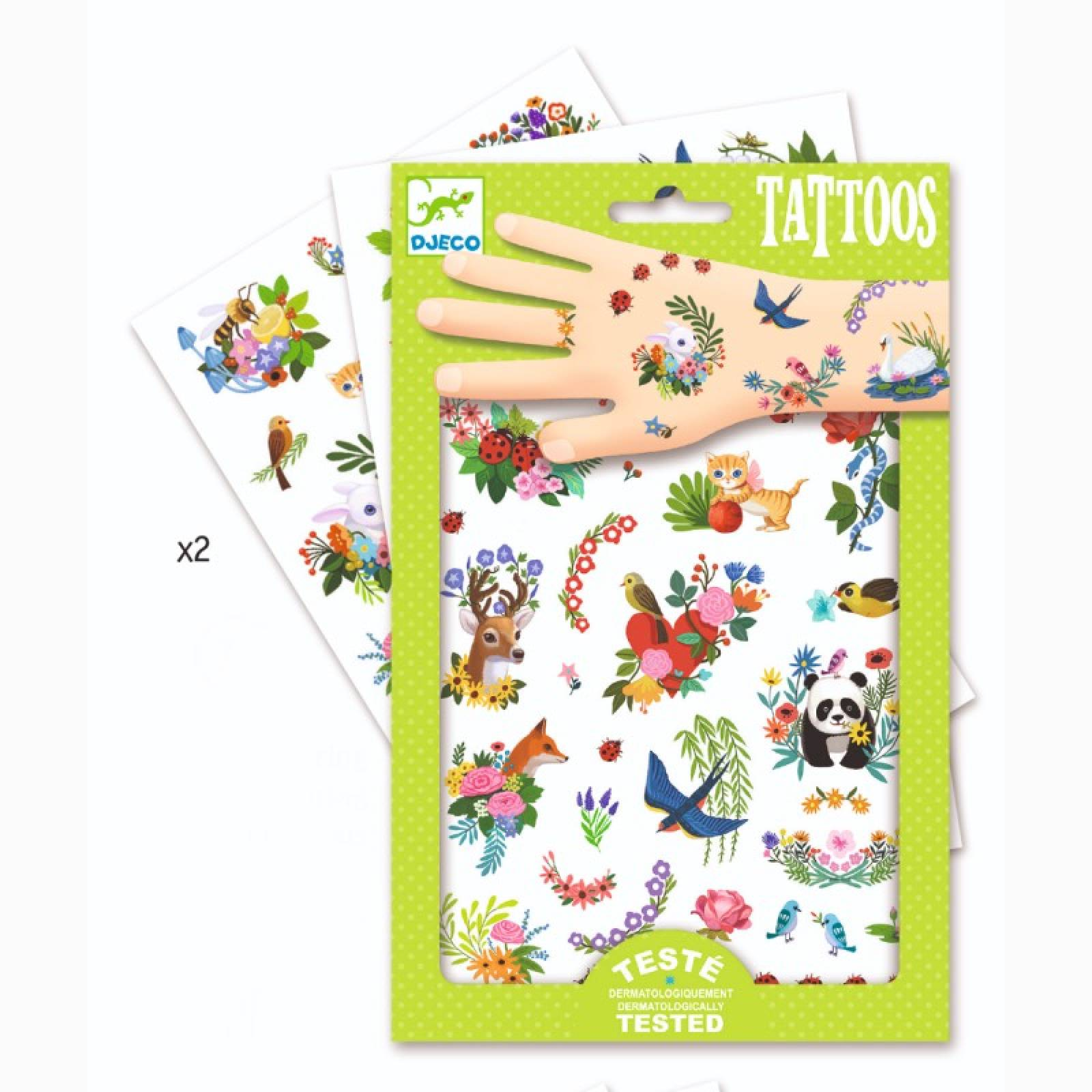 Happy Spring Temporary Tattoo Pack By Djeco 3+ thumbnails