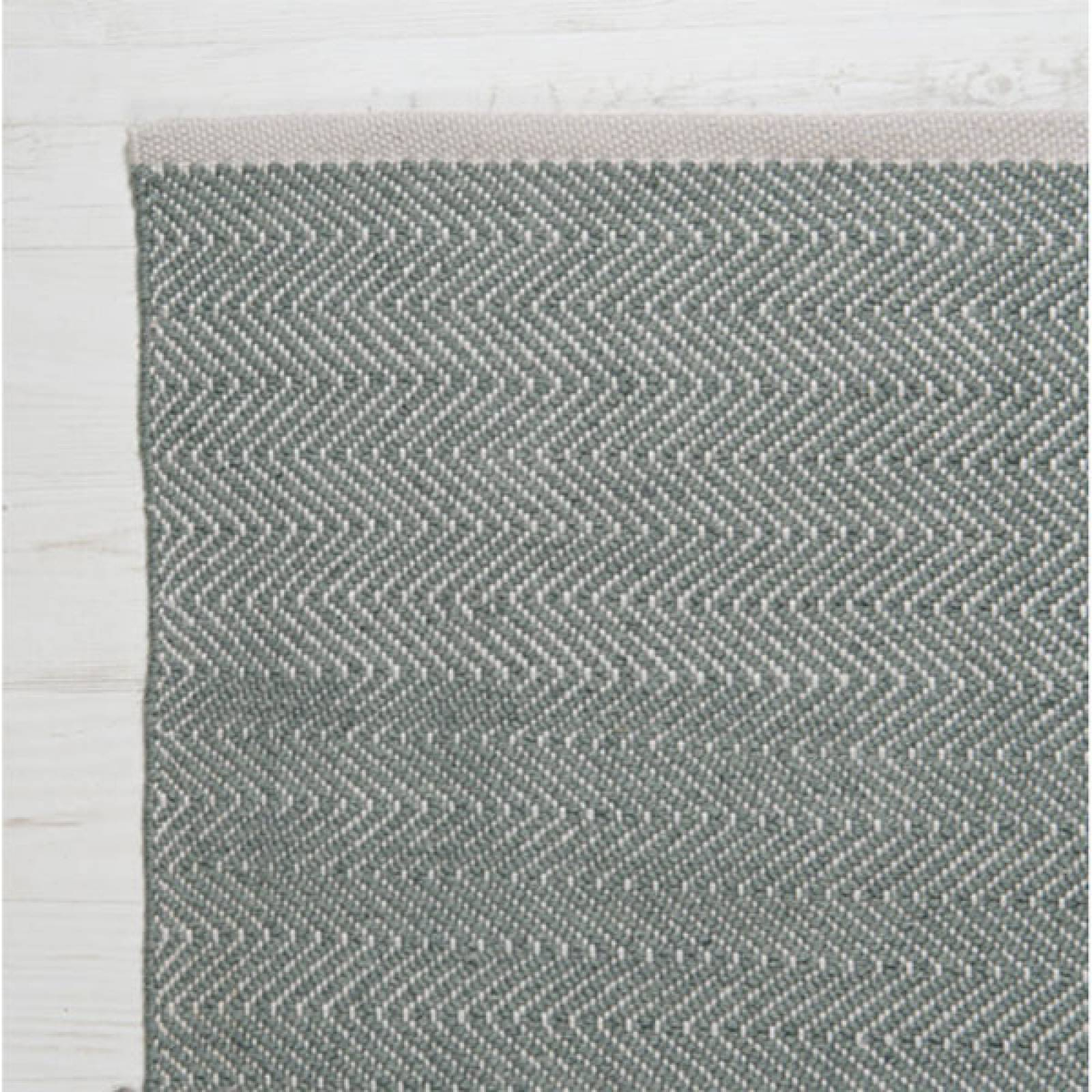 Herringbone GREY 110x60cm Recycled Bottle Rug