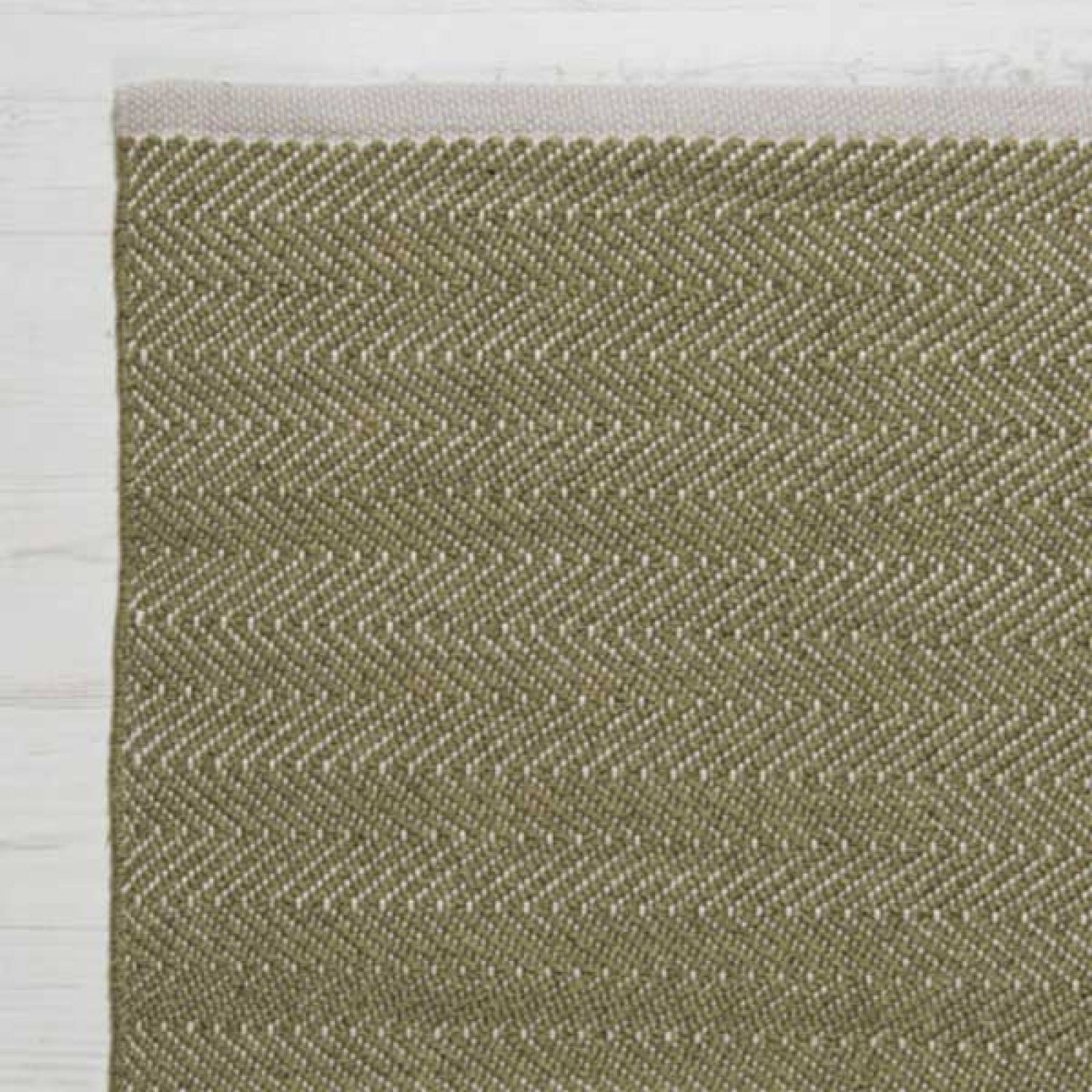 Herringbone LICHEN 240x70cm Recycled Bottle Rug