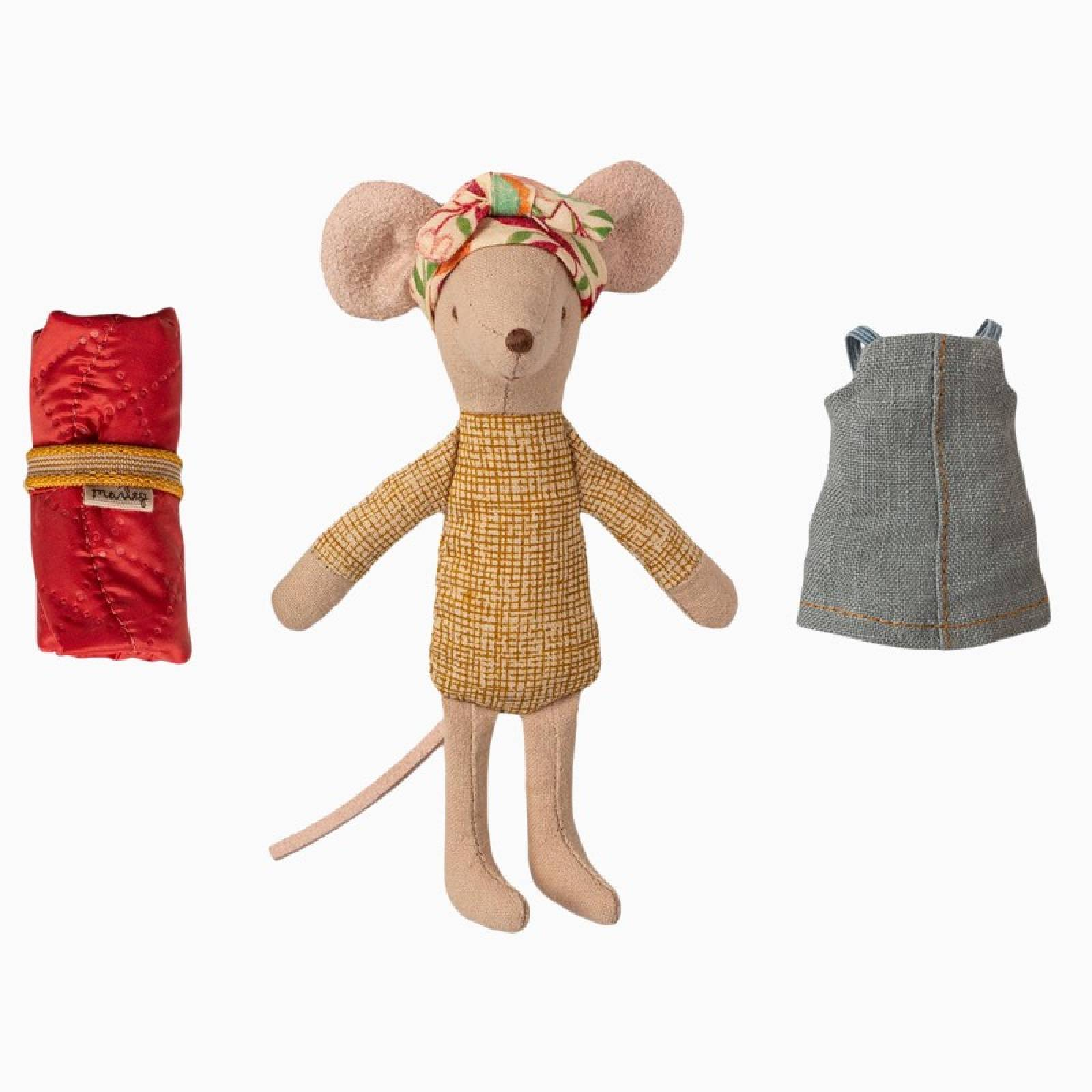 Hiker Mouse Big Sister Soft Toy By Maileg thumbnails