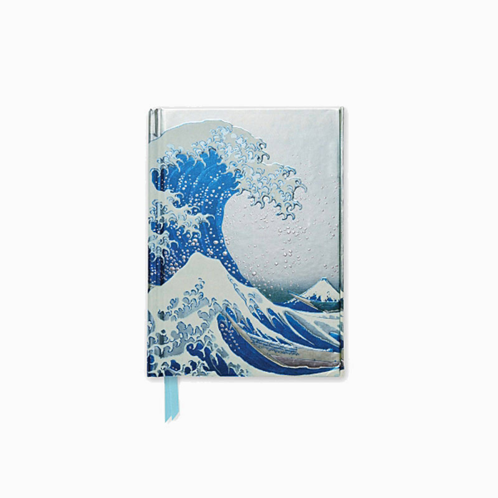 Hokusai The Great Wave - Foiled Pocket Journal