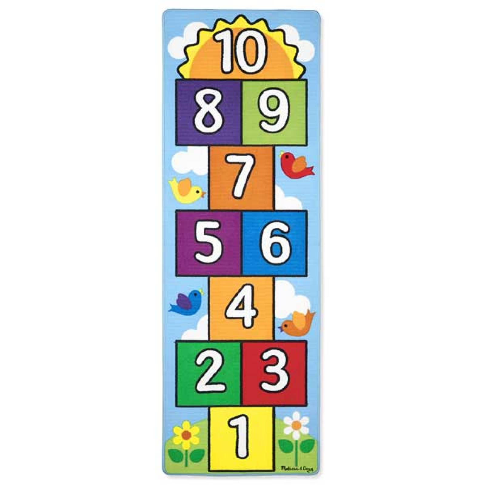 Hop And Count Hopscotch Rug Melissa & Doug 3+ thumbnails