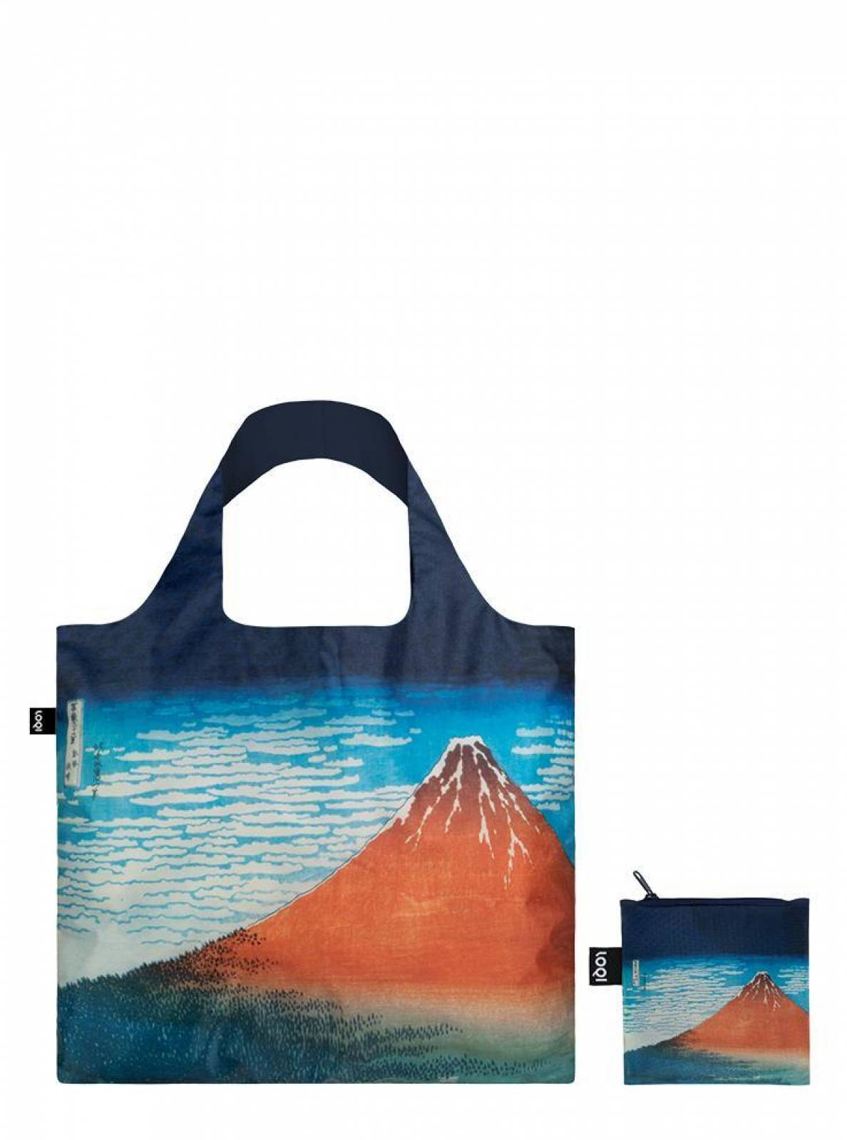 Red Fuji - Reusable Tote Bag With Pouch thumbnails
