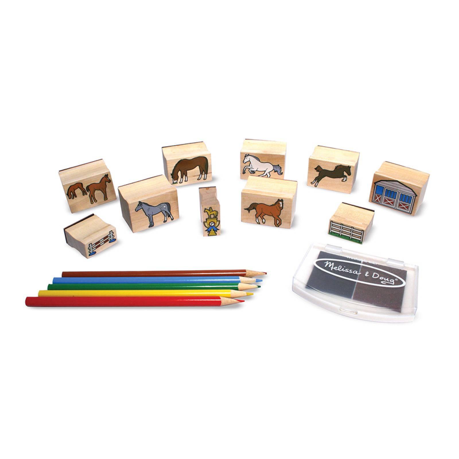 Wooden Stamp Set - Horses 4+