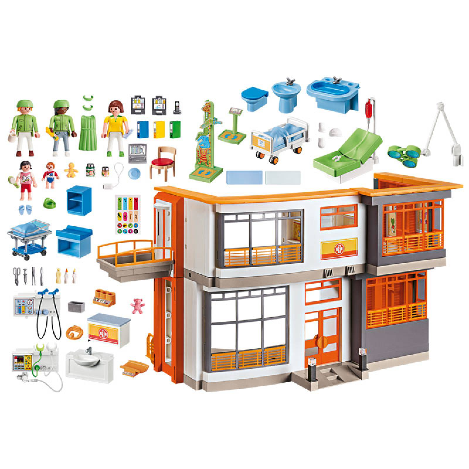 Furnished Children's Hospital City Life Playmobil 6657 4-10yrs thumbnails
