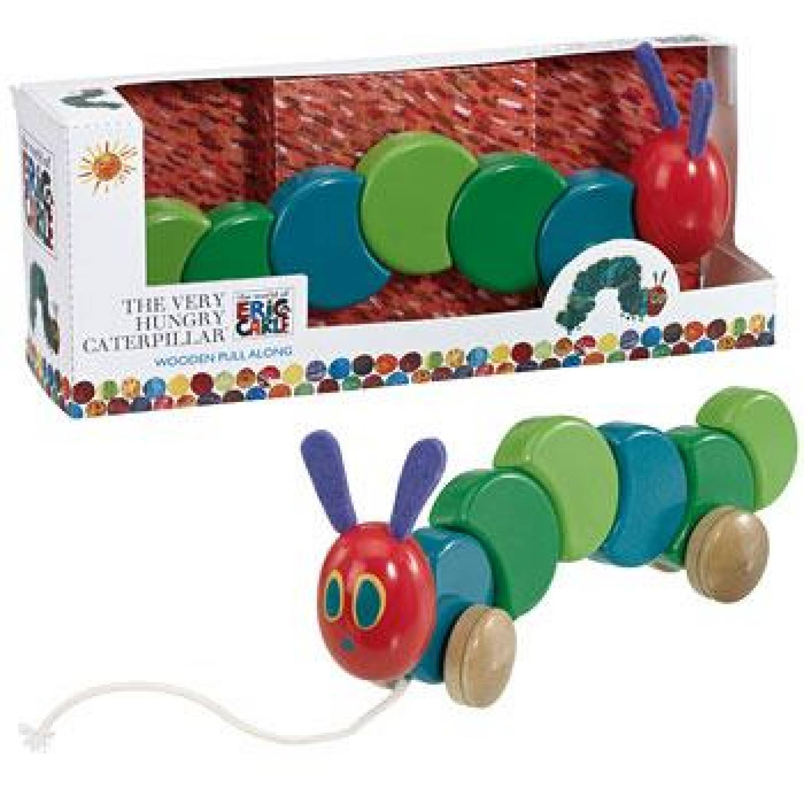 The Very Hungry Caterpillar Wooden Pull Along Toy 1+