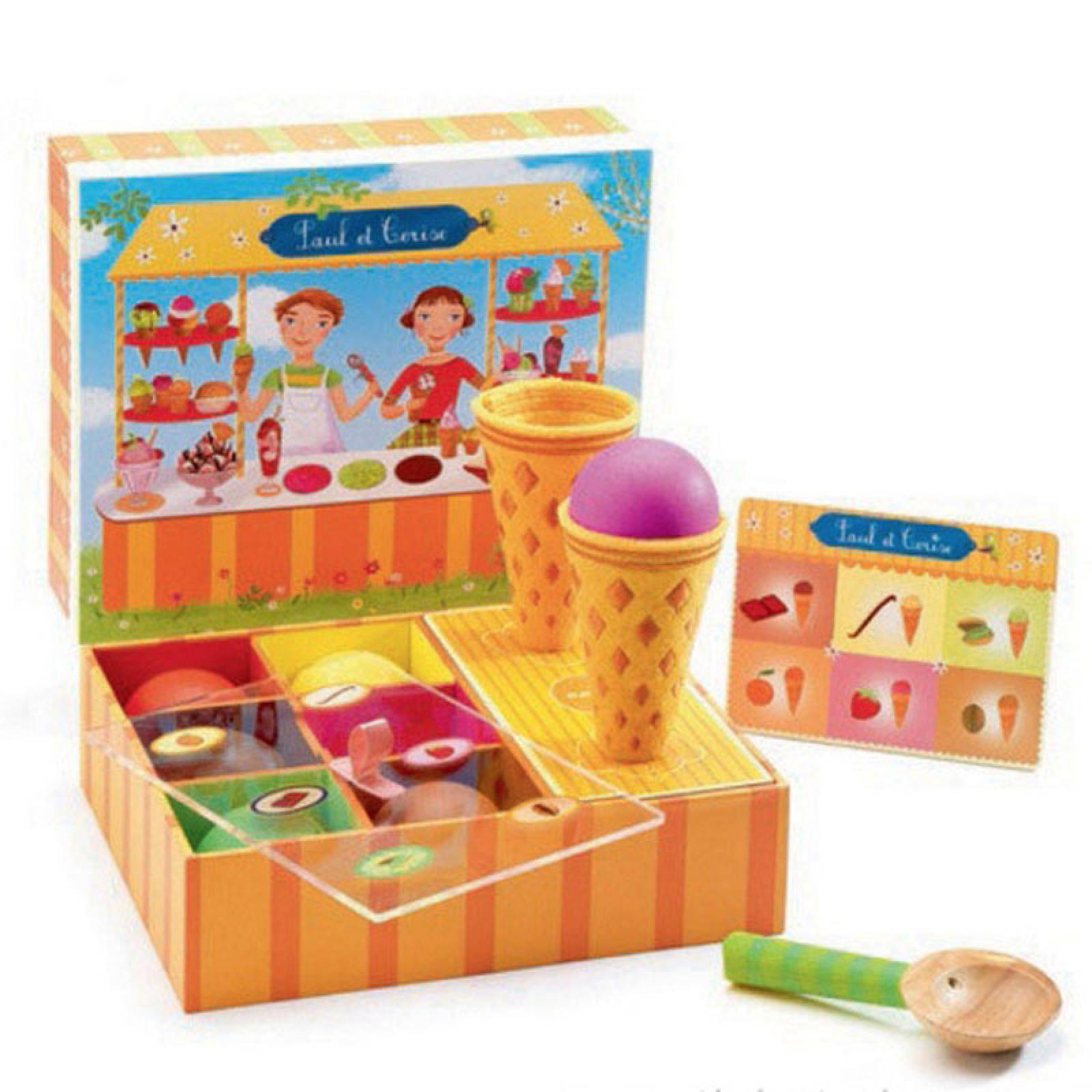 Icecream Wooden Playfood Set By Djeco 4+