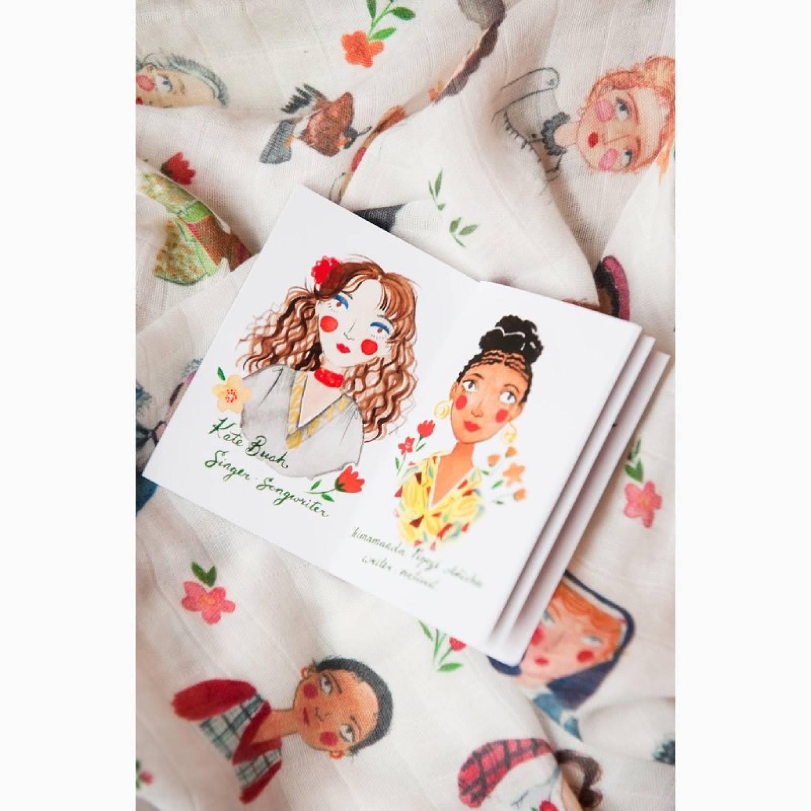Iconic Women Swaddle Blanket & Book thumbnails
