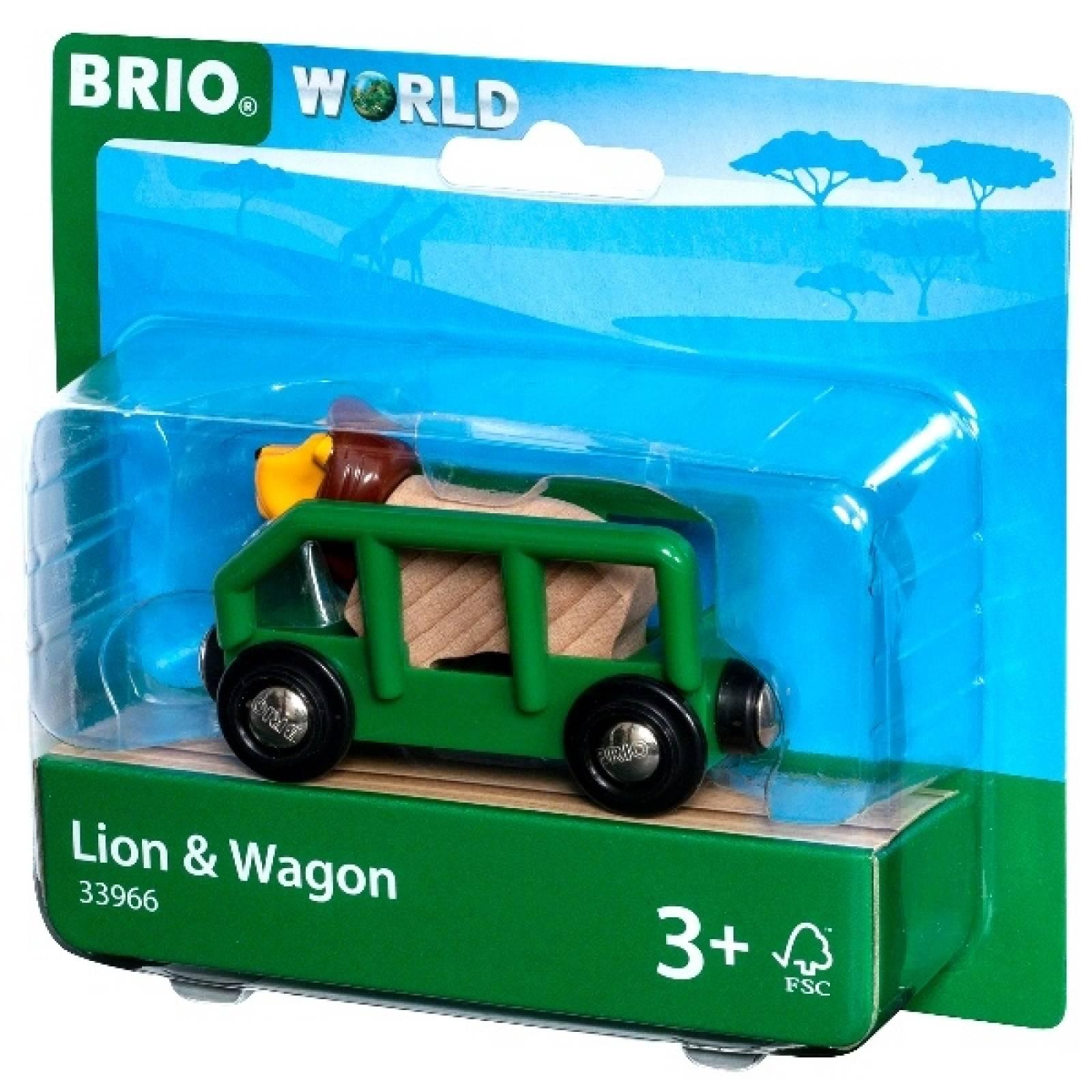 Lion & Wagon BRIO Wooden Railway Age 3+ thumbnails