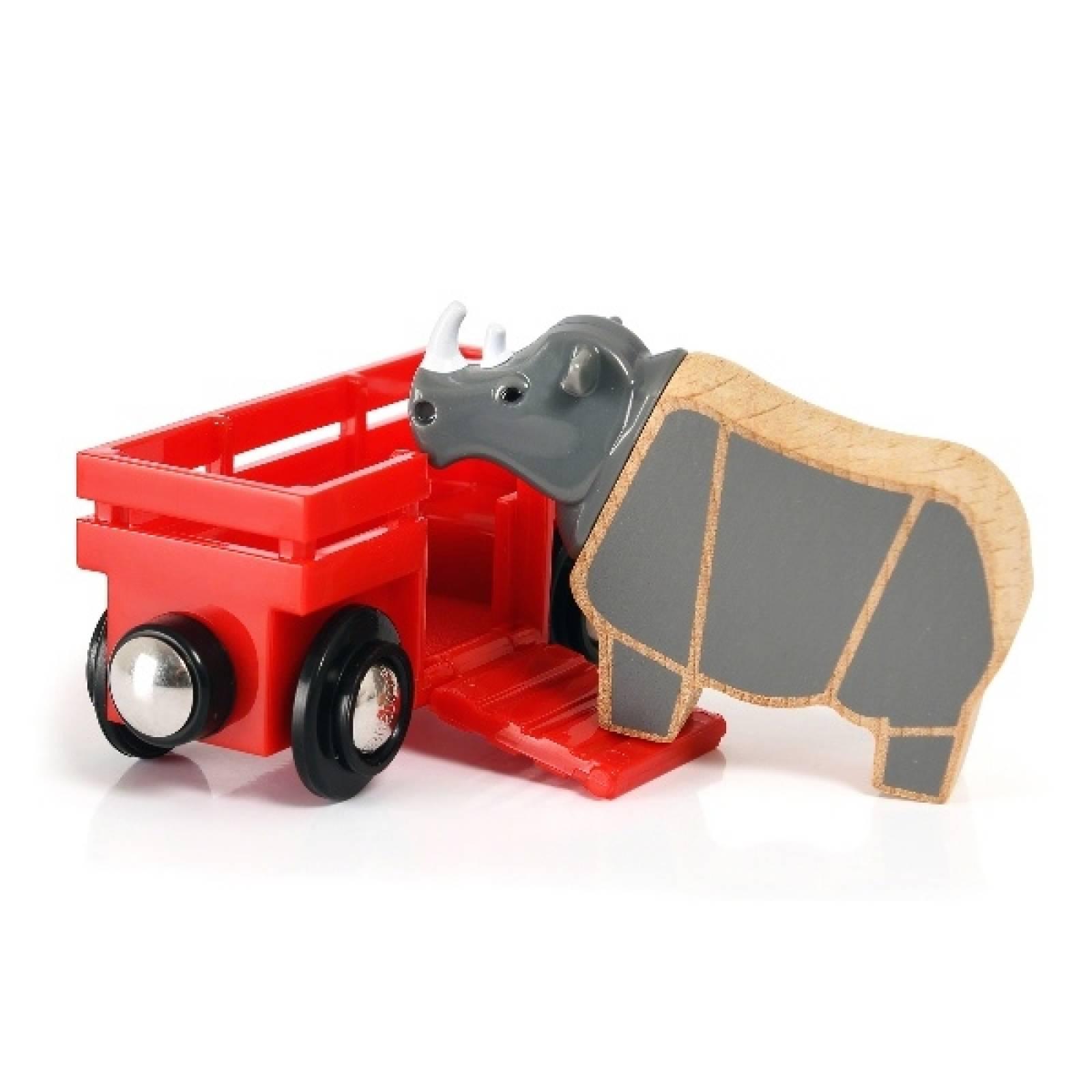 Rhino & Wagon BRIO Wooden Railway Age 3+ thumbnails