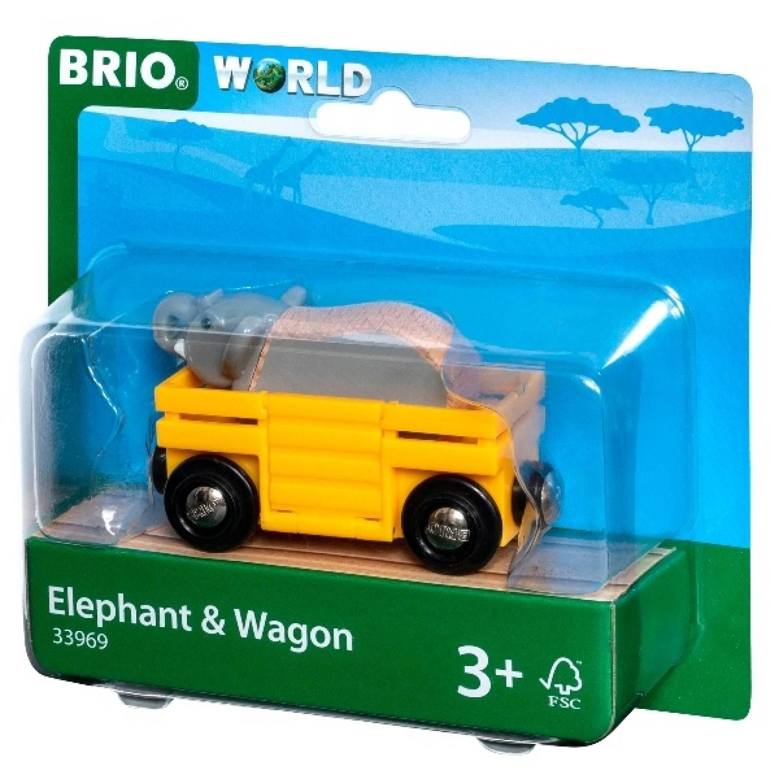 Elephant & Wagon BRIO Wooden Railway Age 3+
