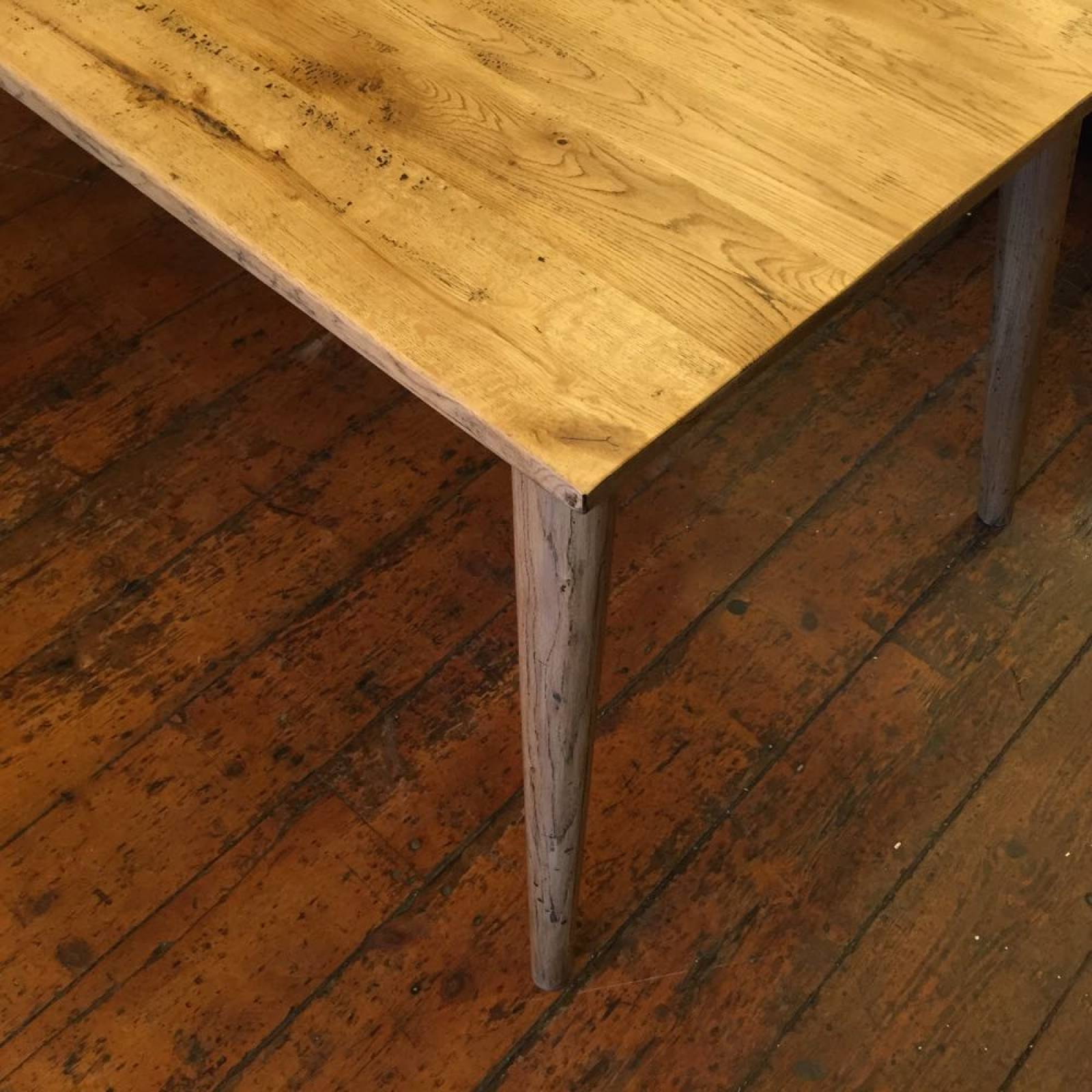 Gotland 1.5m Rectangular Oak Retro Dining Table Splayed Legs thumbnails