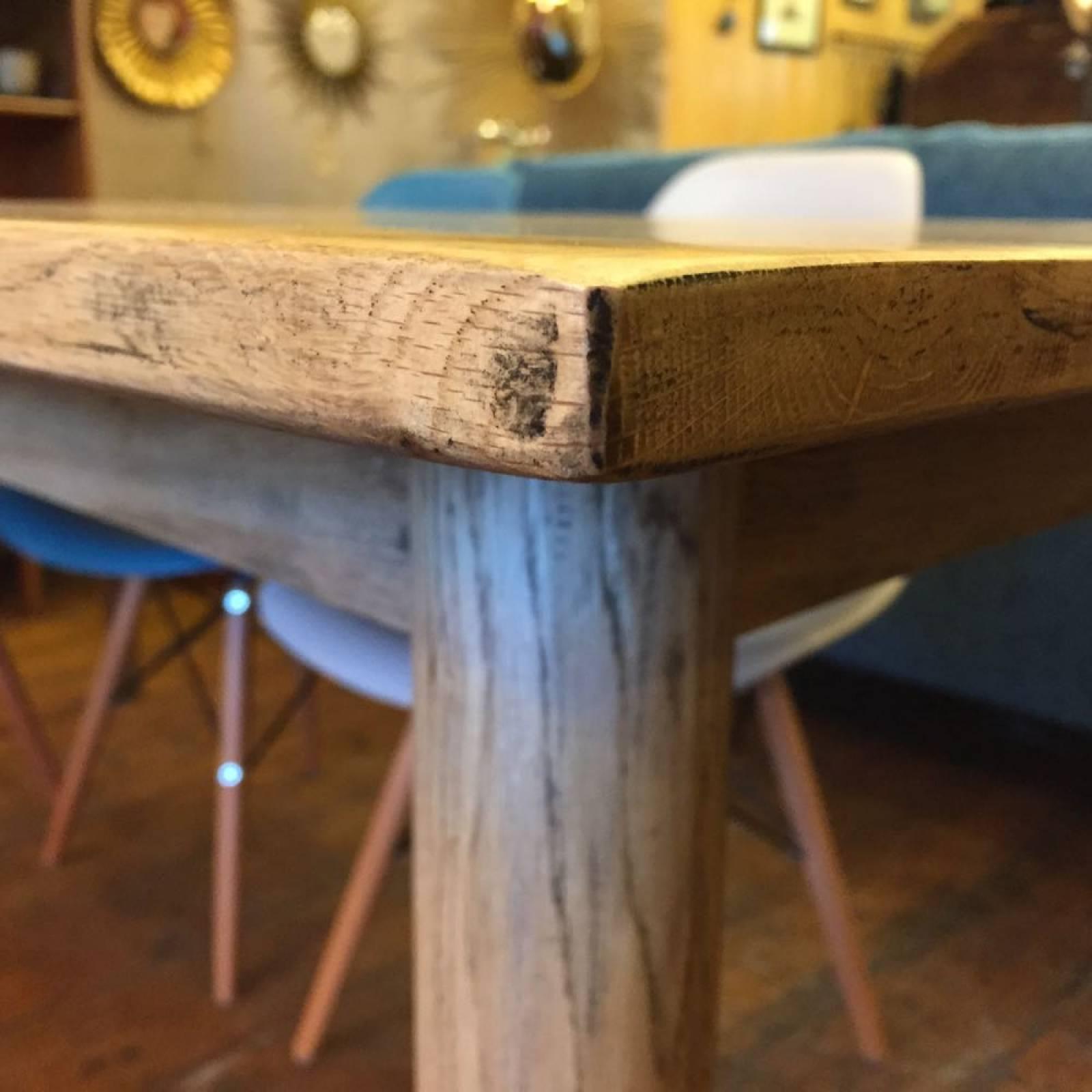 Gotland 1.5m Rectangular Oak Retro Dining Table Splayed Legs thumbnails