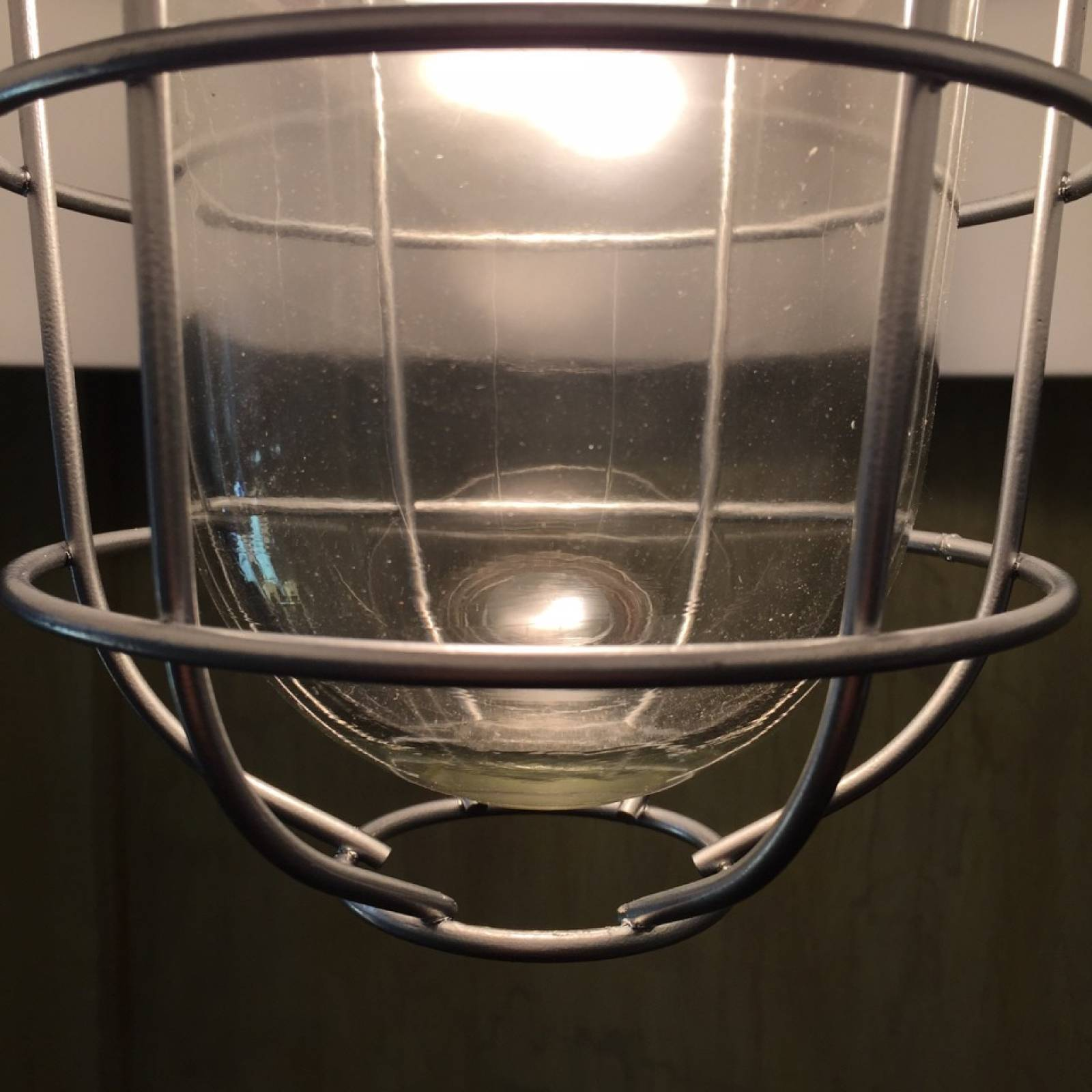 Industrial Black Enamel Pendant Ceiling  Light  With Cage thumbnails
