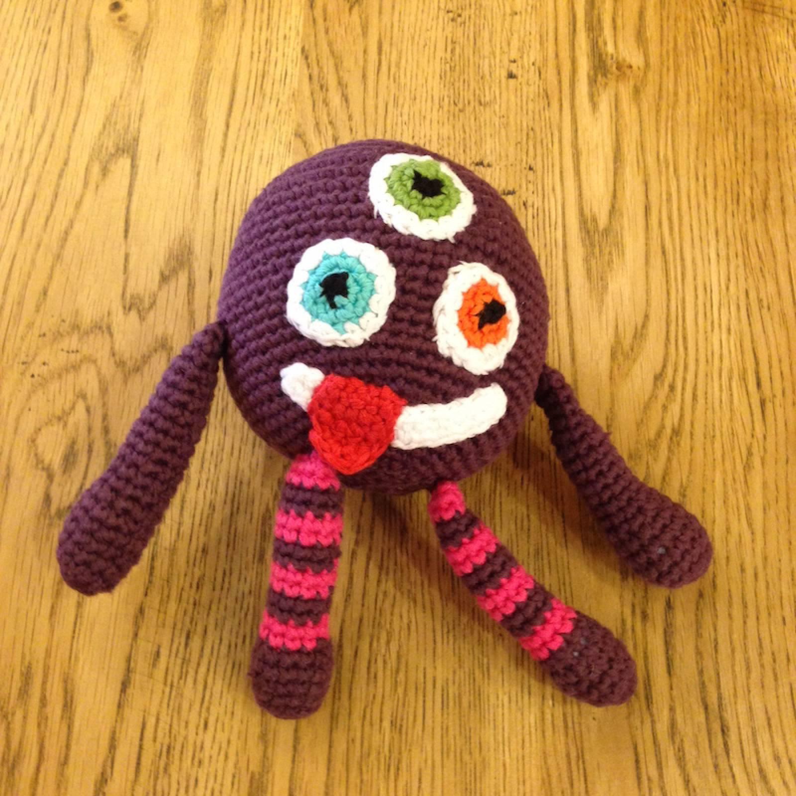Purple Crochet Monster Handmade Soft Toy thumbnails