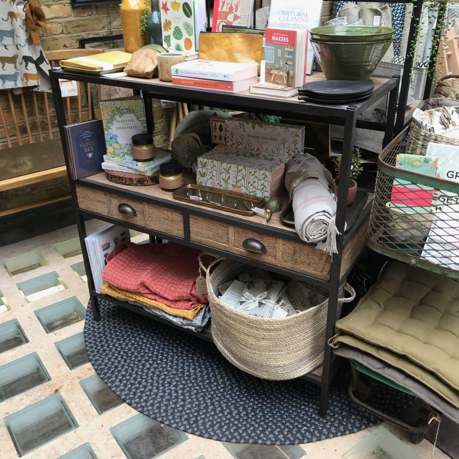 Covent Garden Low 3 tier Shelving Unit