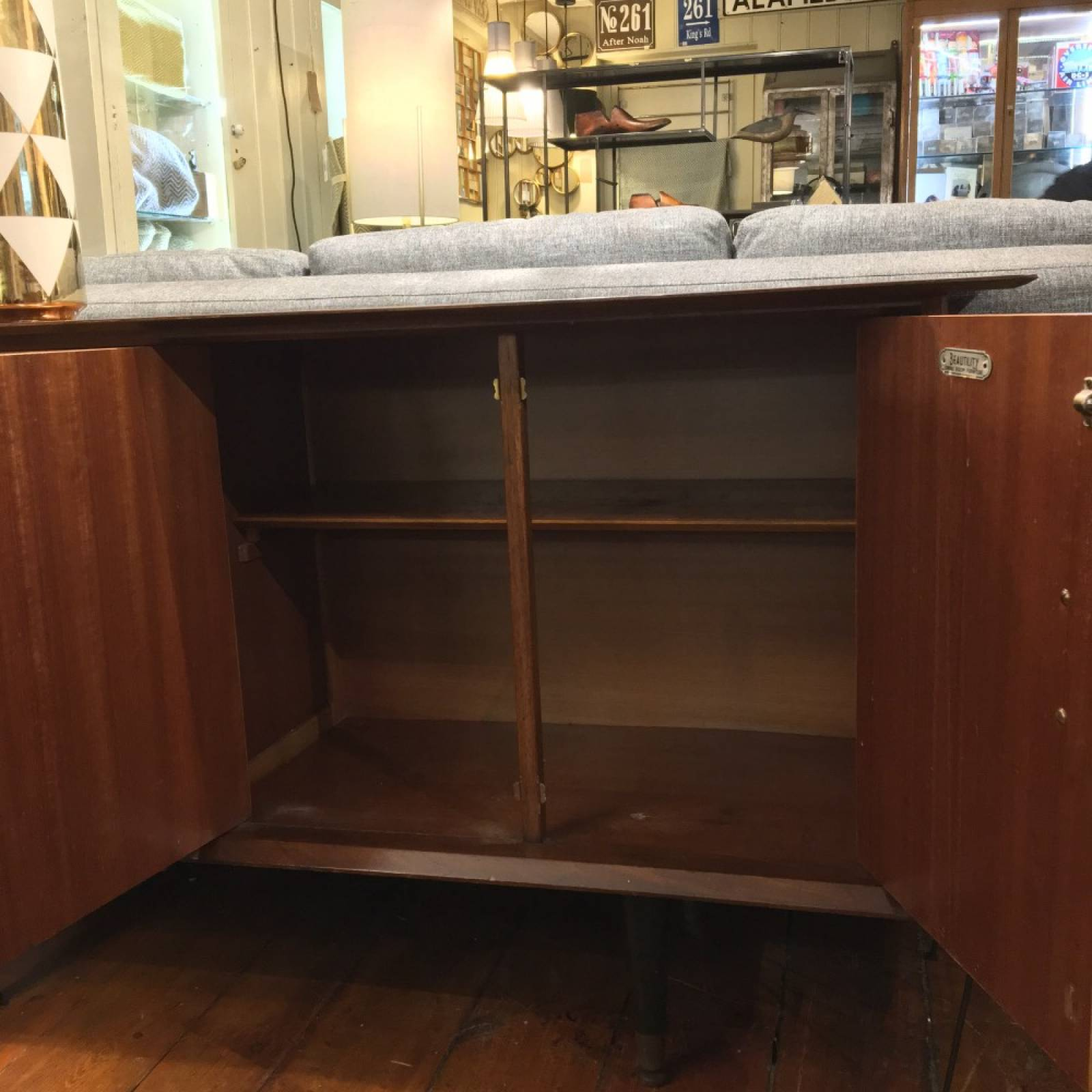 Mid Century Sideboard With Cupboard 5 Drawers (3 offset) thumbnails