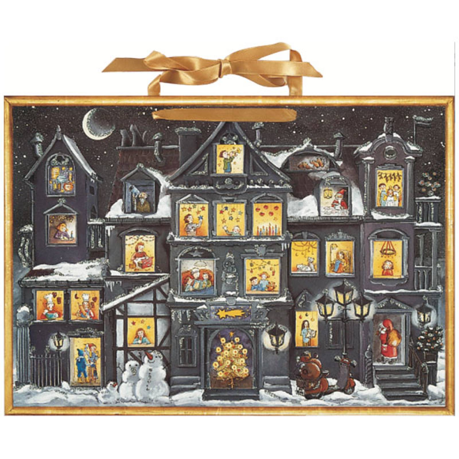 The Christmas House At Night Advent Calendar (Colourful Inside) thumbnails