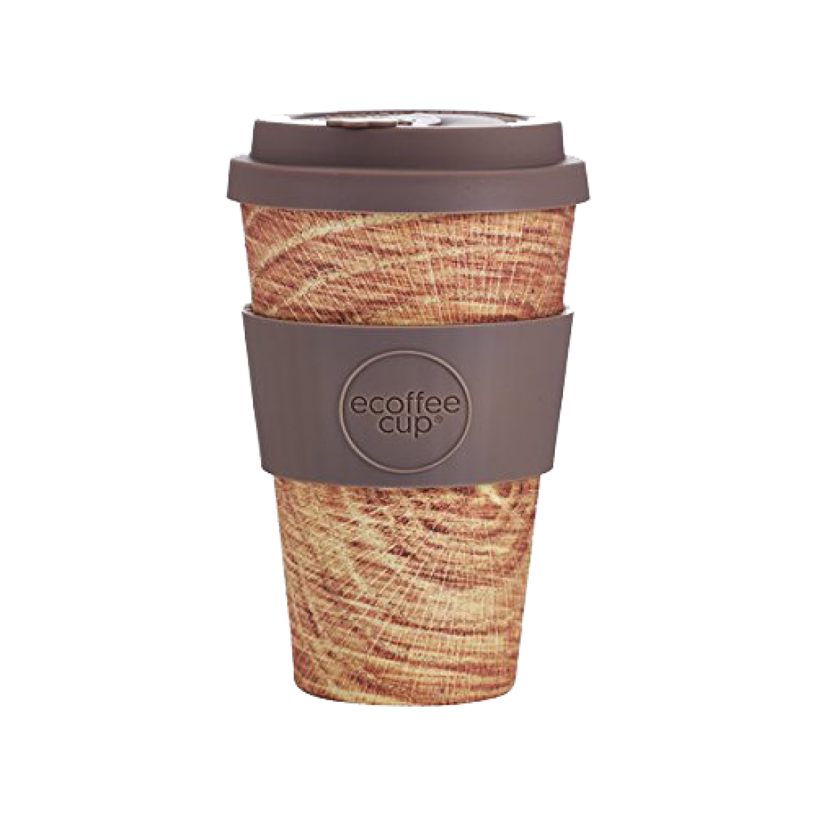 Ecoffee Cup Jack O'Toole With Dark Brown Silicone 14oz