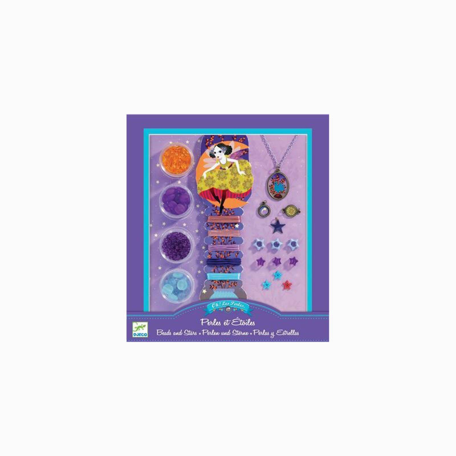 Jewellery Making Set Pearls And Stars By Djeco 7+yrs