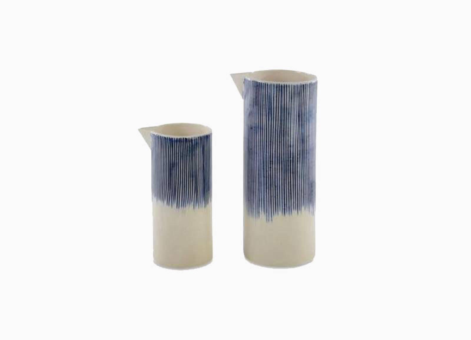 Karuma Ceramic Jug Blue & White 8.5cm x 21.5cm