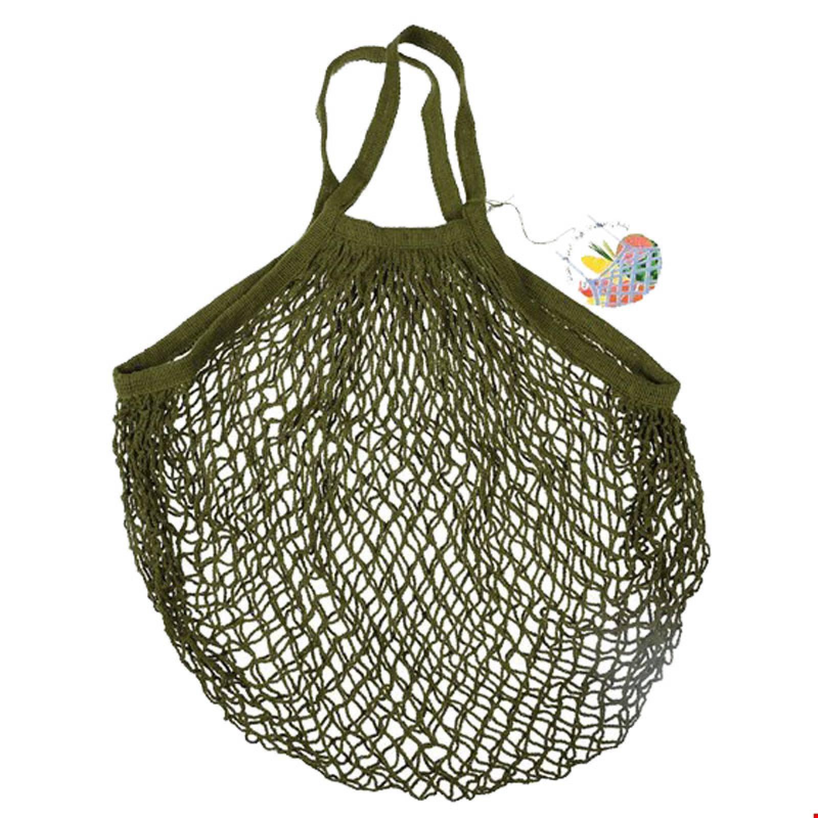 Khaki String Shopping Bag