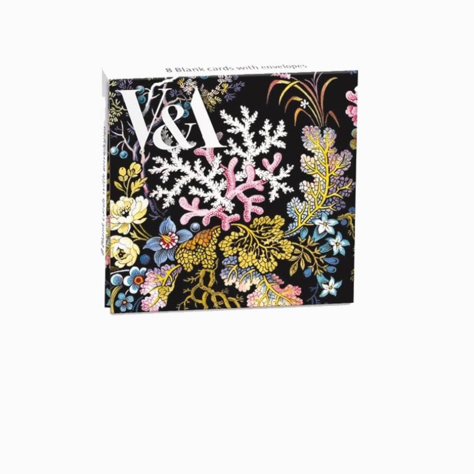 Kilburn Coral - Pack Of 8 Notecards And Envelopes