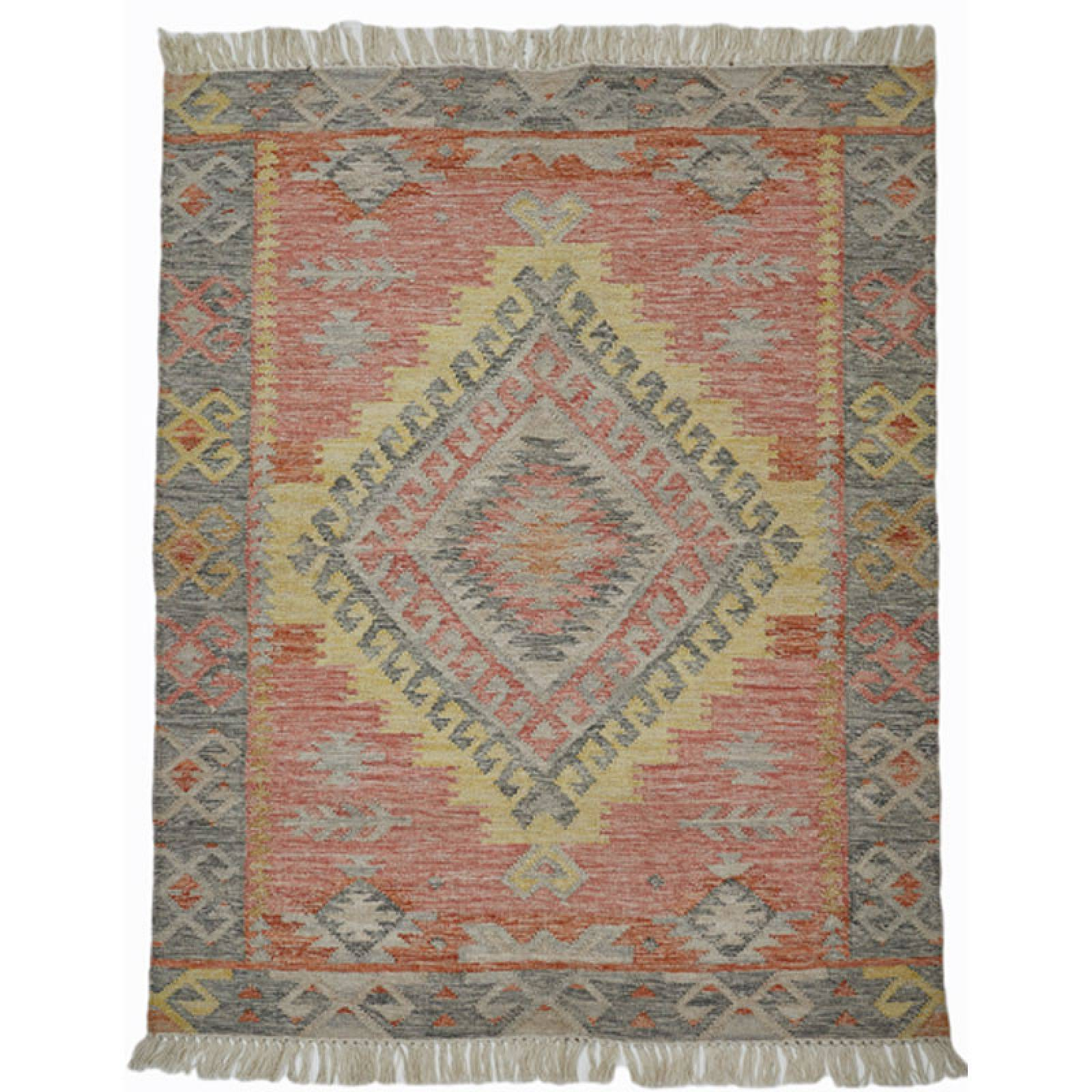 Tarifa Kilim Rug 300X250cm Recycled Bottle Rug.