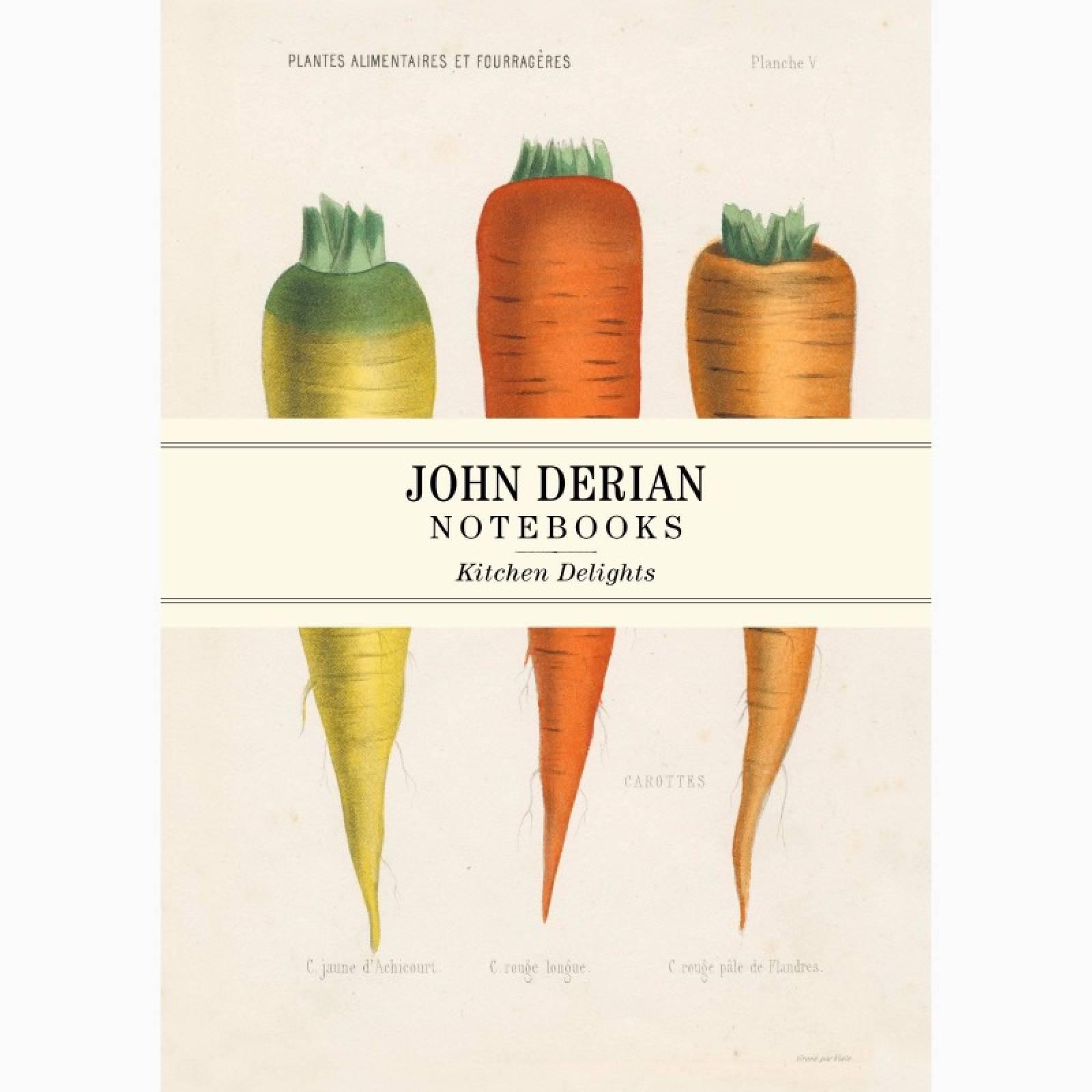 Kitchen Delights By John Derian - Set Of 3 Notebooks