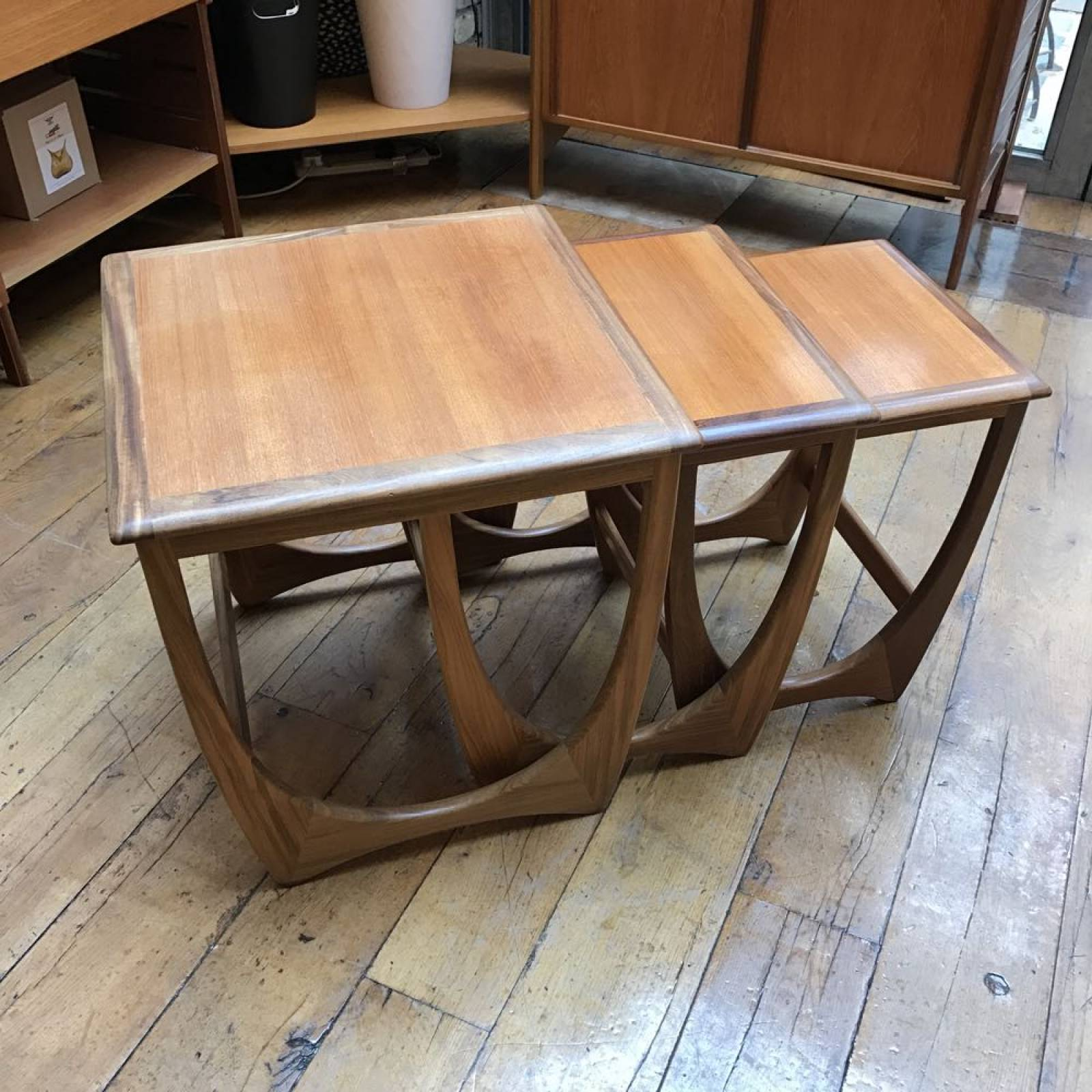 Teak Nest Of Three Tables Astro G Plan 1960s thumbnails