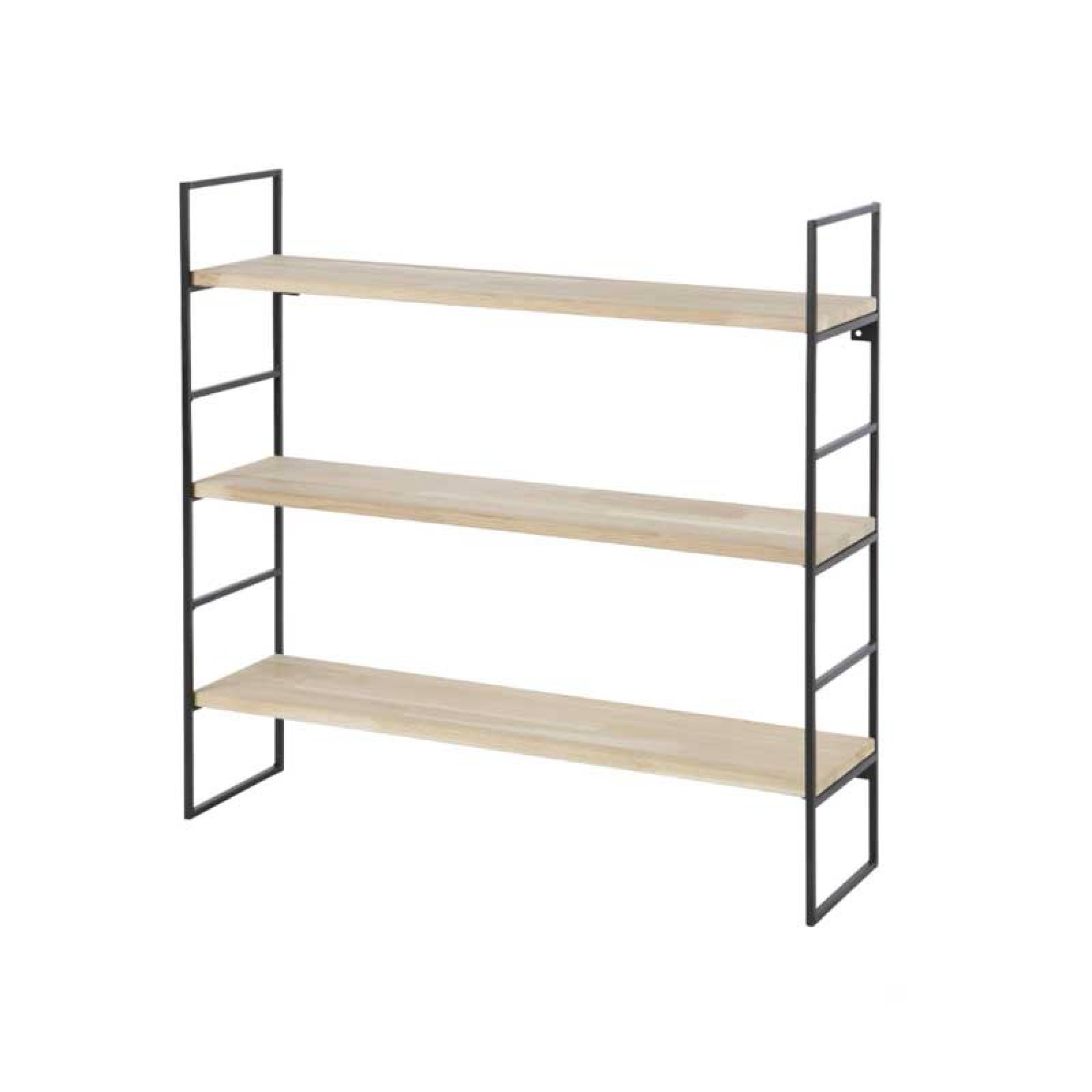 Meert Wall Shelf Black Metal Laddder Side thumbnails