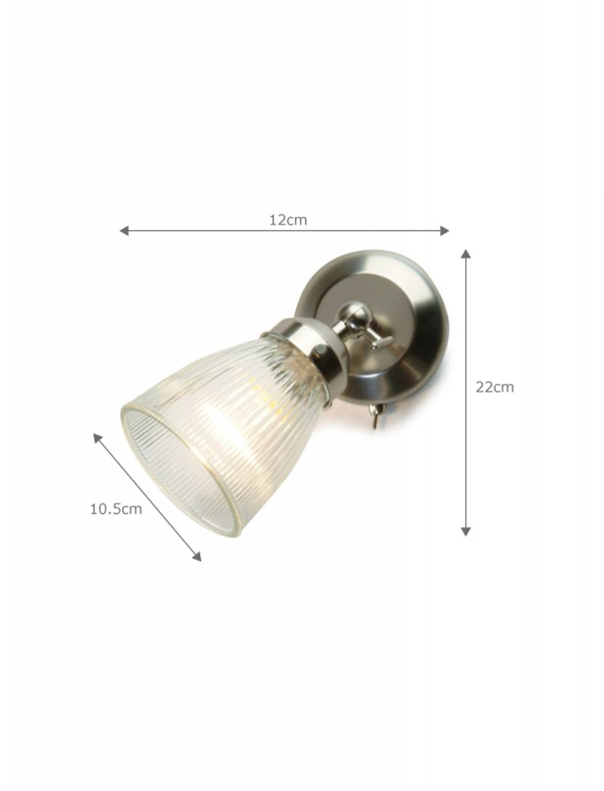 Pimlico Wall Light Glass and Nickel. thumbnails