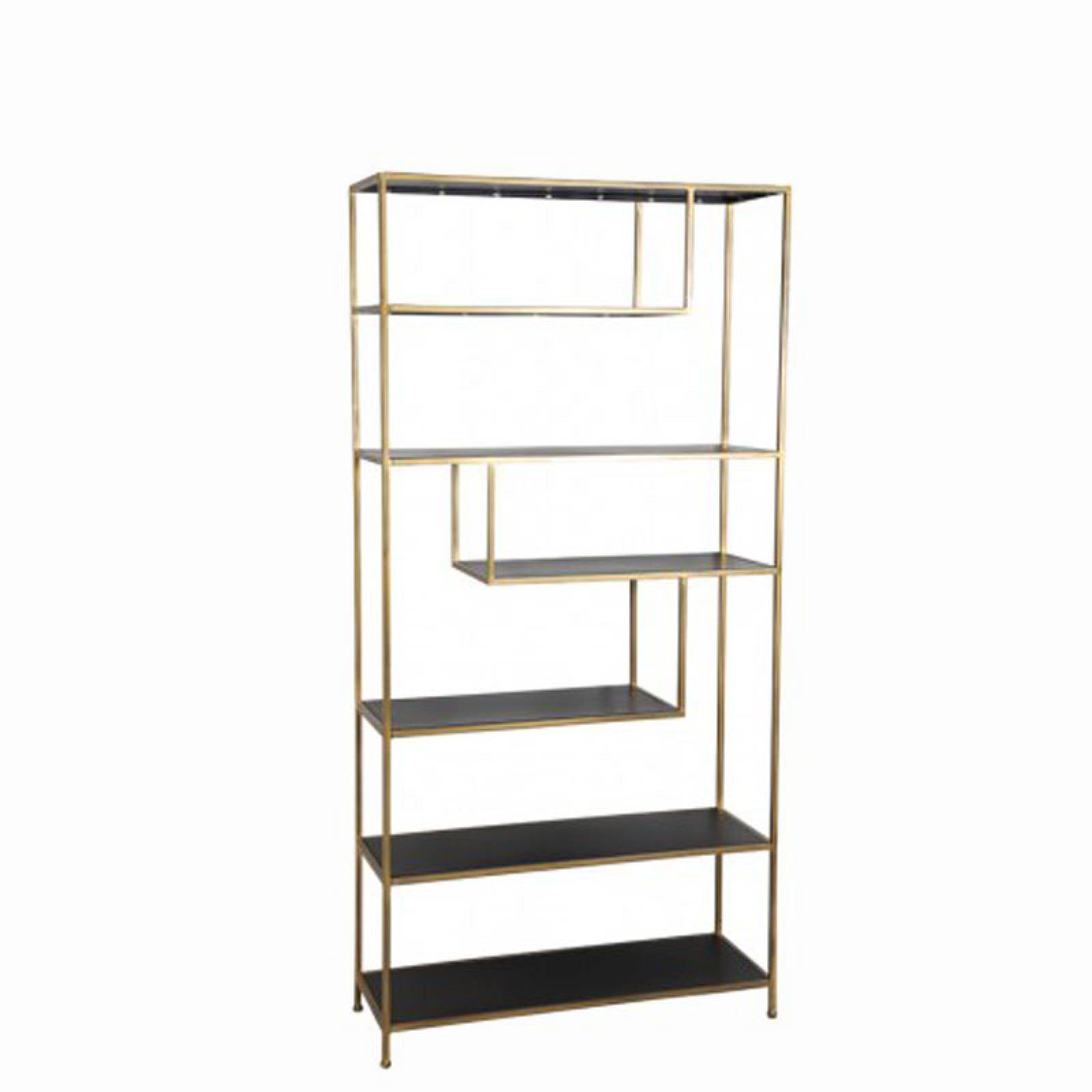 Large Gold Metal Geometric Open Shelving Unit thumbnails