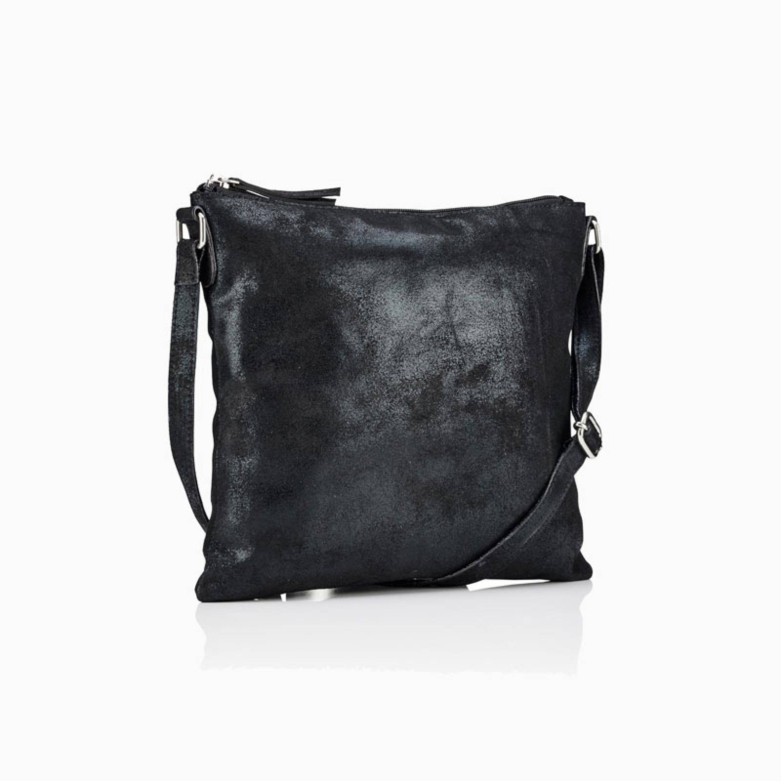 Large Leather Crossbody Bag In Black