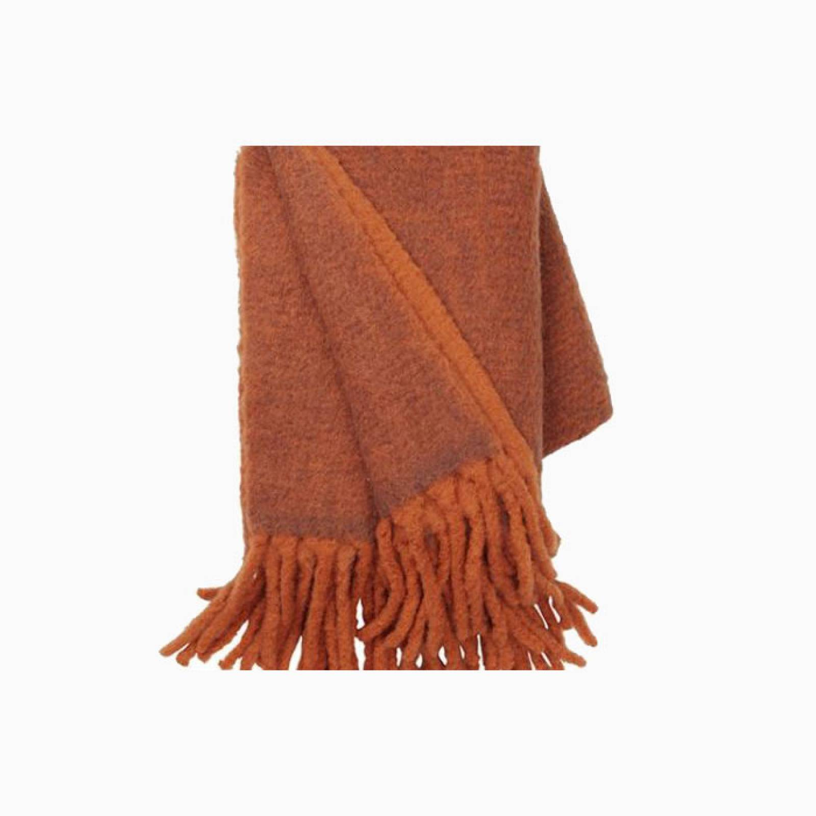Large Mathea Throw In Terracotta