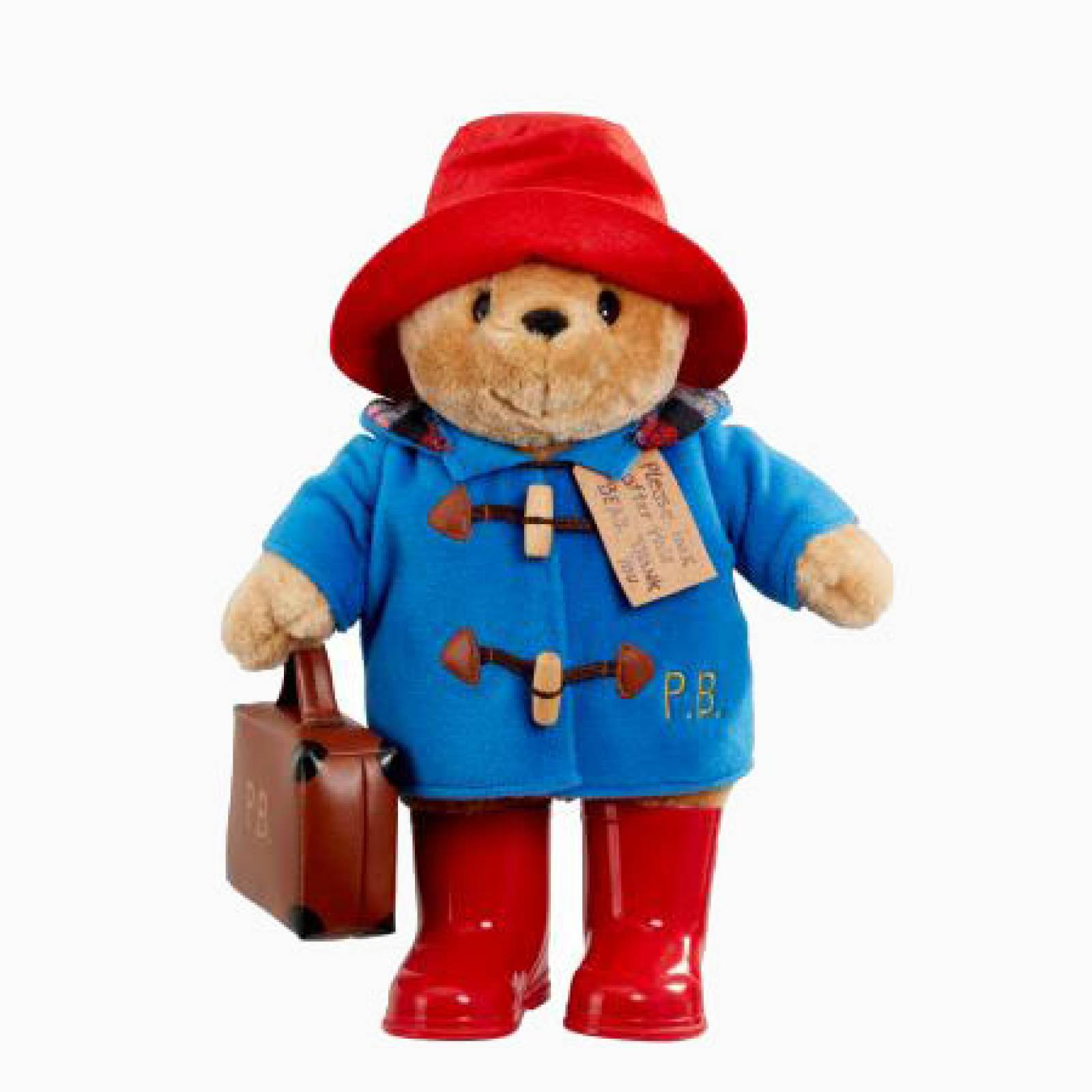Large Paddington Bear Soft Toy With Boots And Suitcase 1+
