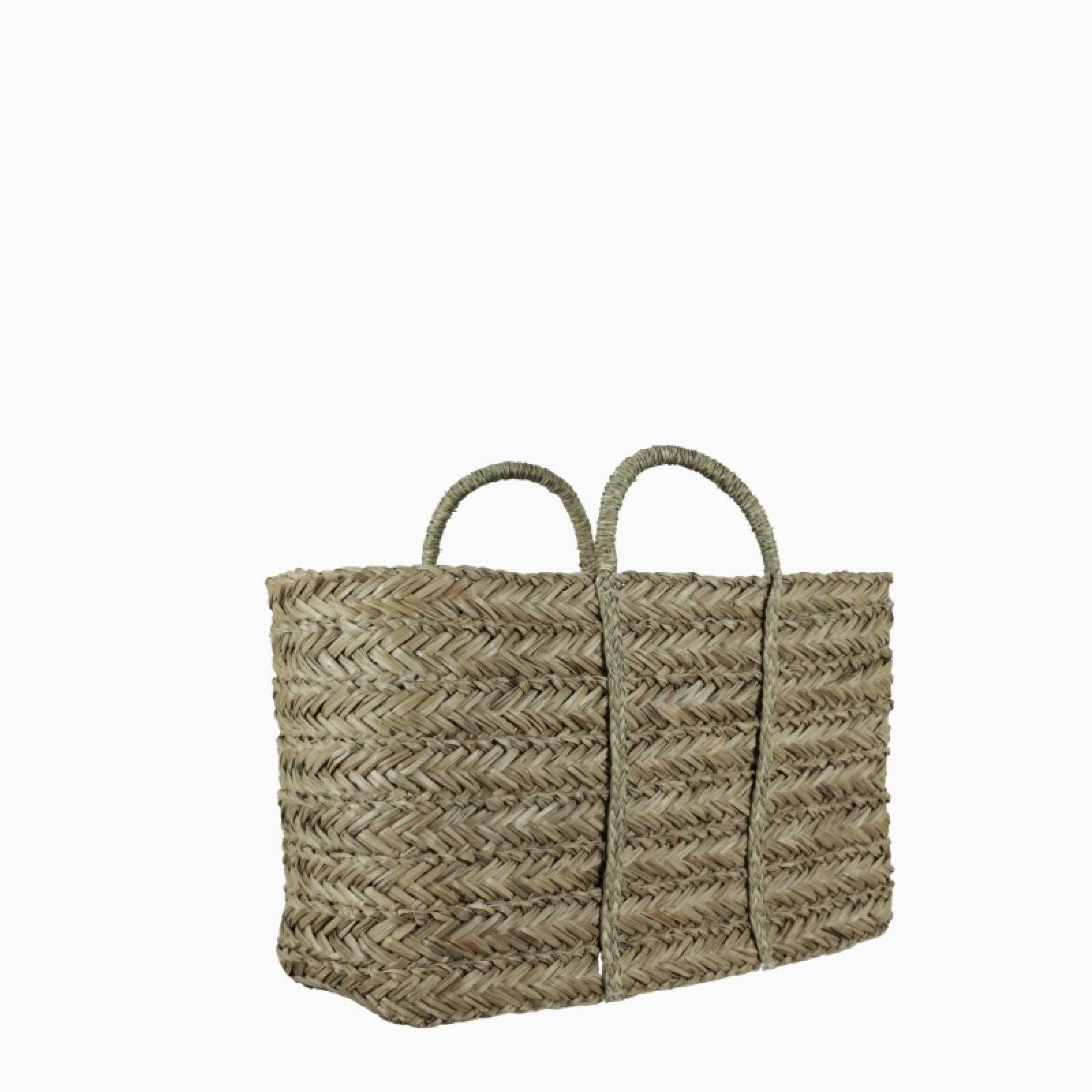 Large Plaited Seagrass Basket 54x20x30cm