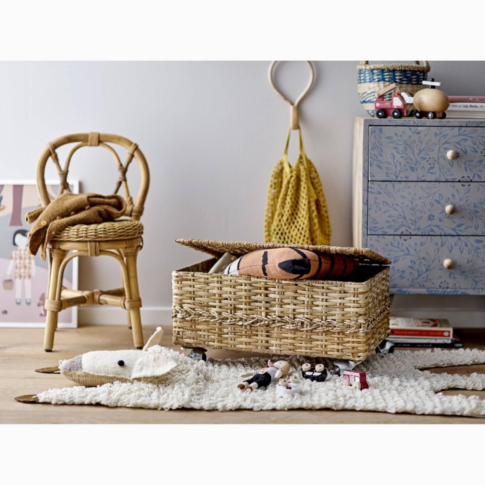 Mini Woven Cotton String Bag In Yellow thumbnails